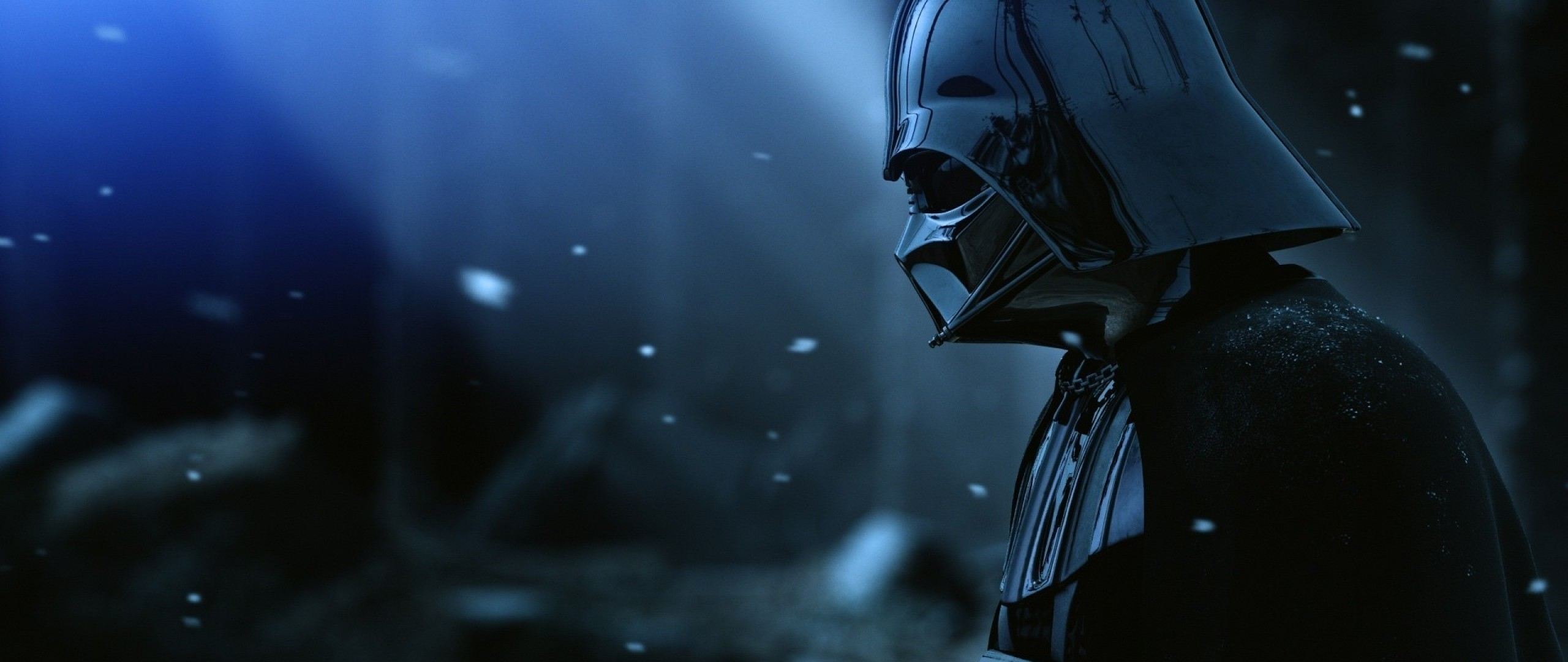 2560x1080  Wallpaper darth vader, armor, star wars, film, hat, snow