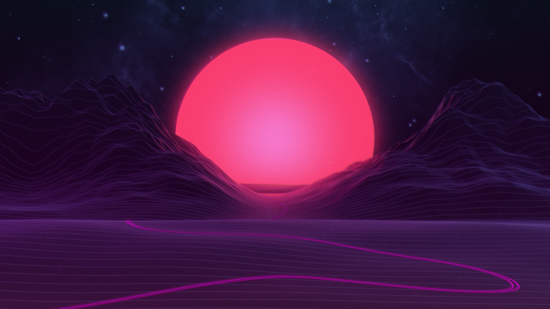 1920x1080 Neon Sunset by AxiomDesign Neon Sunset by AxiomDesign