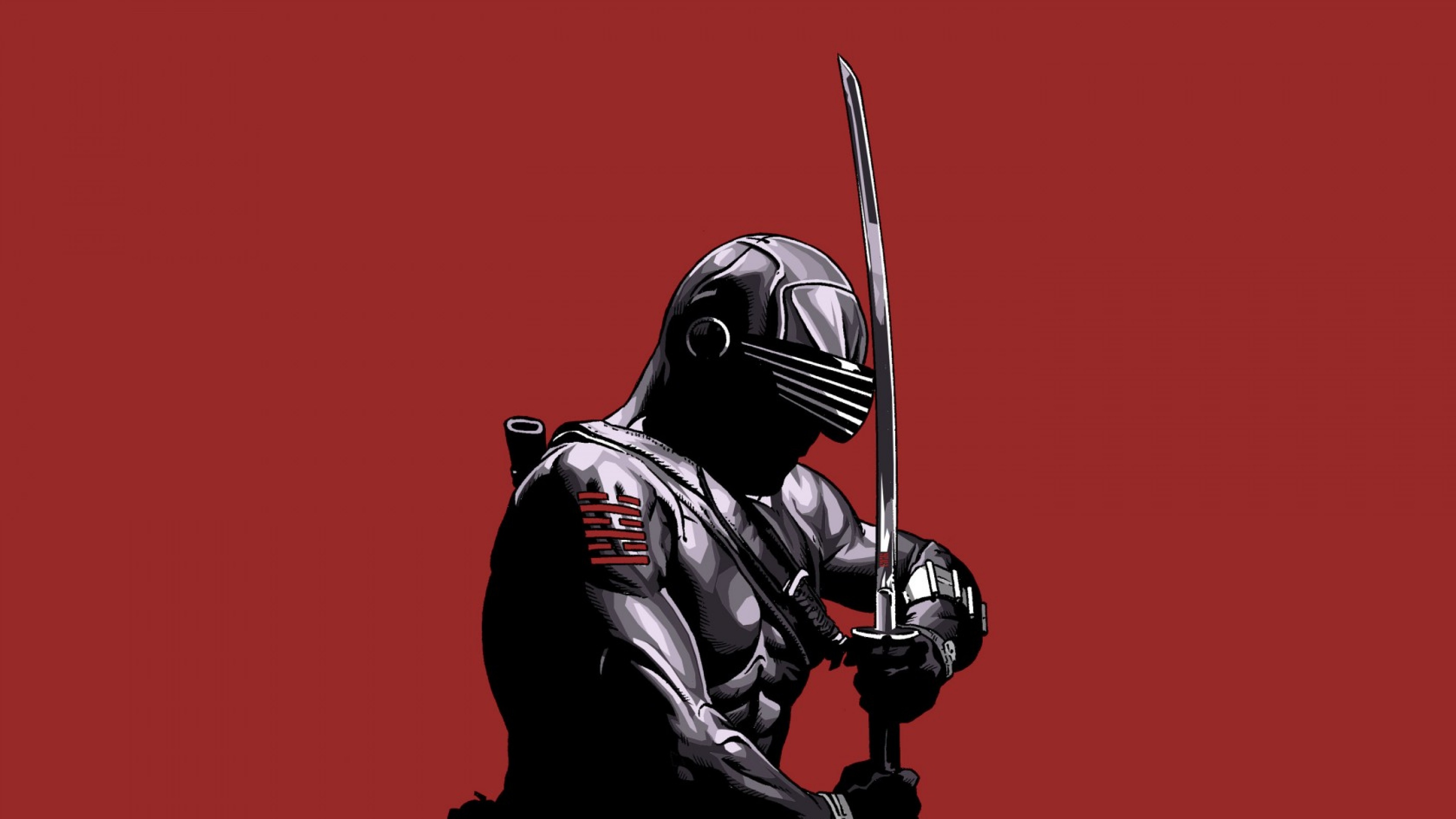 3840x2160  Wallpaper gi joe the rise of cobra, ninja, sword, art, helmet