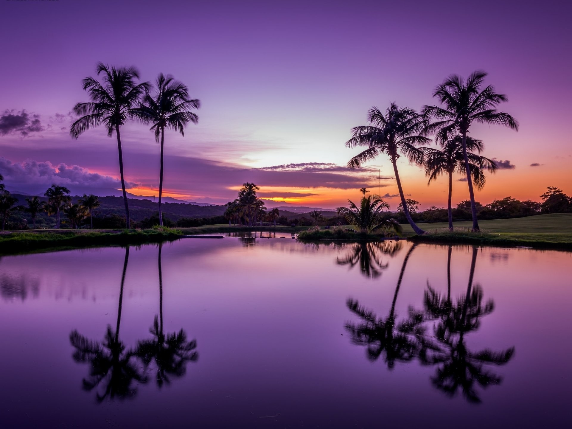 1920x1440 fajardo puerto rico fajardo puerto rico tropics palm sunset water reflection