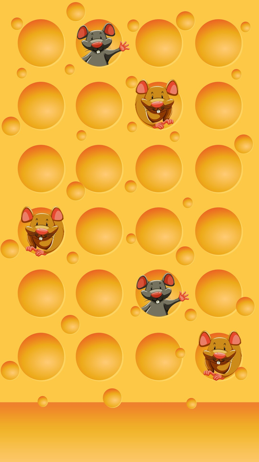 1080x1920 Cheese and Mice Wallpaper · Wallpaper ShelvesWallpaper BackgroundsPhone  WallpapersYellow BackgroundIphone 6AndroidScreen