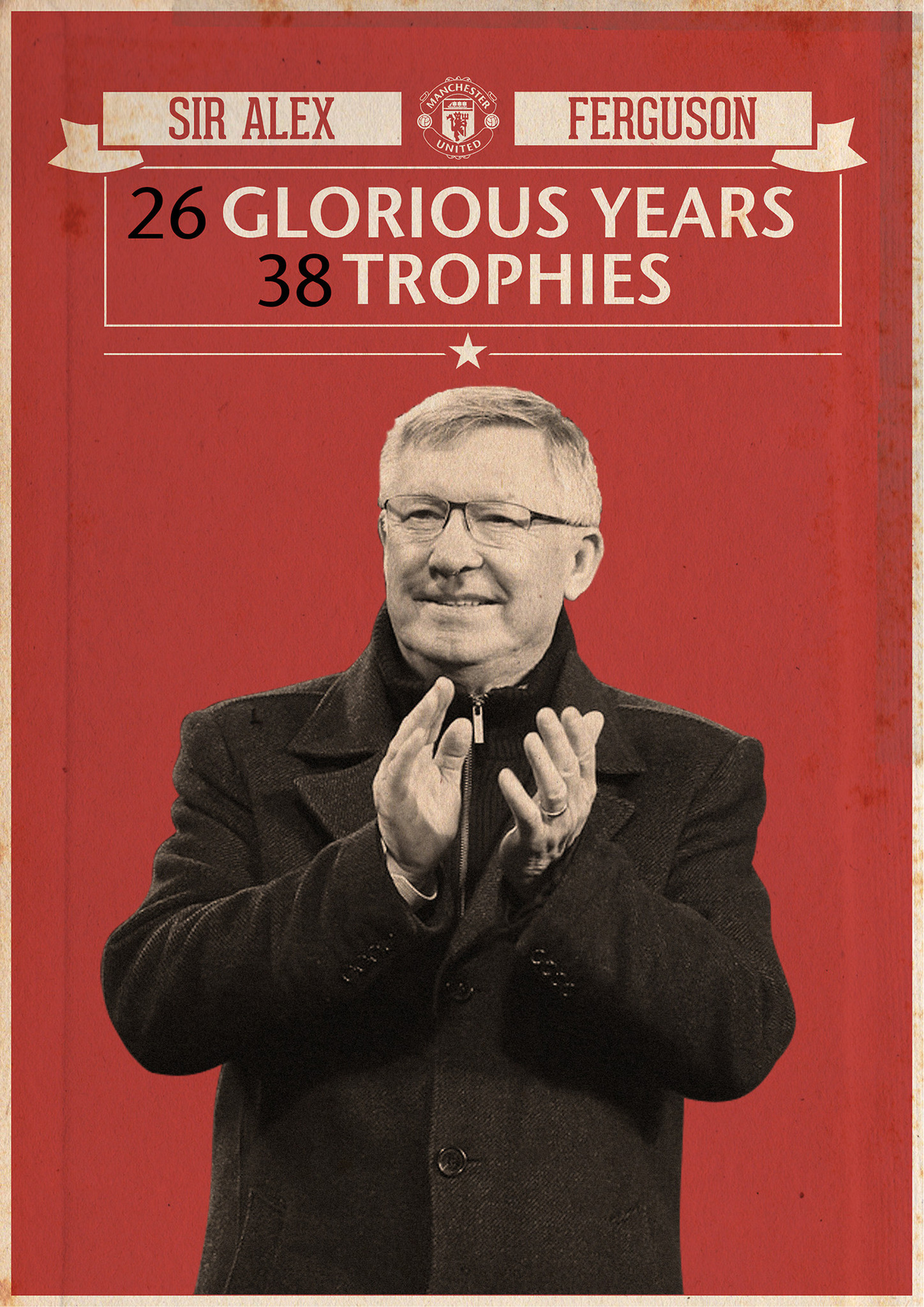 1448x2048 Sir Alex Ferguson Poster from Cyankart