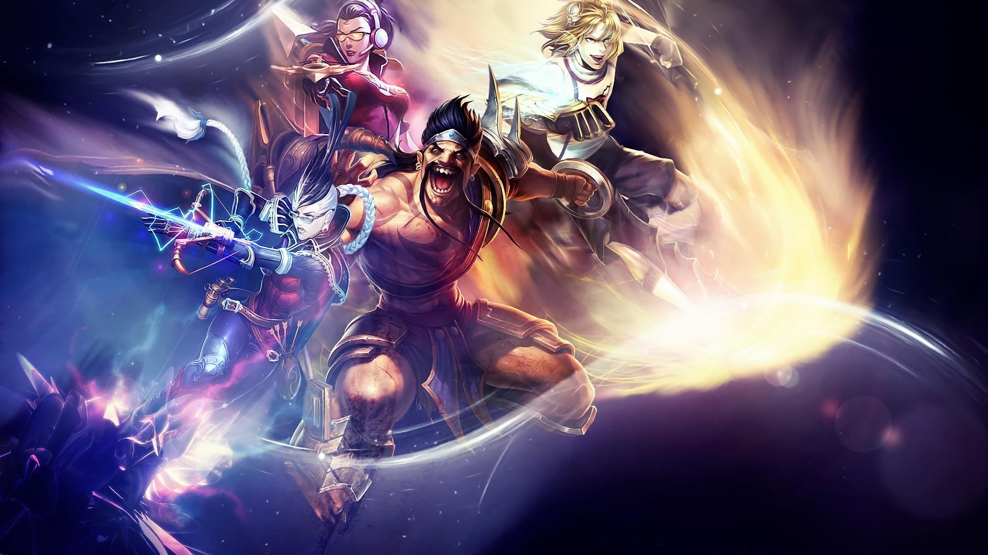 1920x1080 League Of Legends, Draven, Vayne, Ezreal Wallpapers HD / Desktop and Mobile  Backgrounds