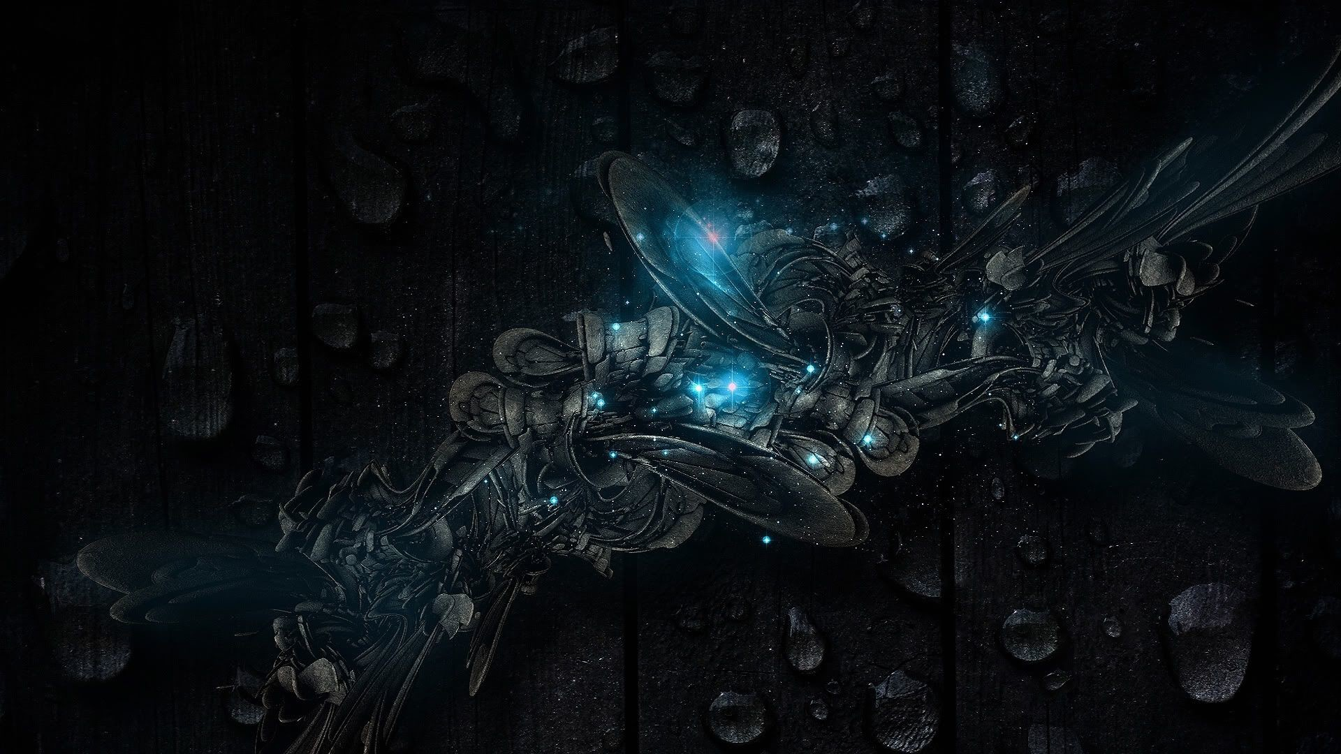 1920x1080 Blue And Black Backgrounds Wallpaper