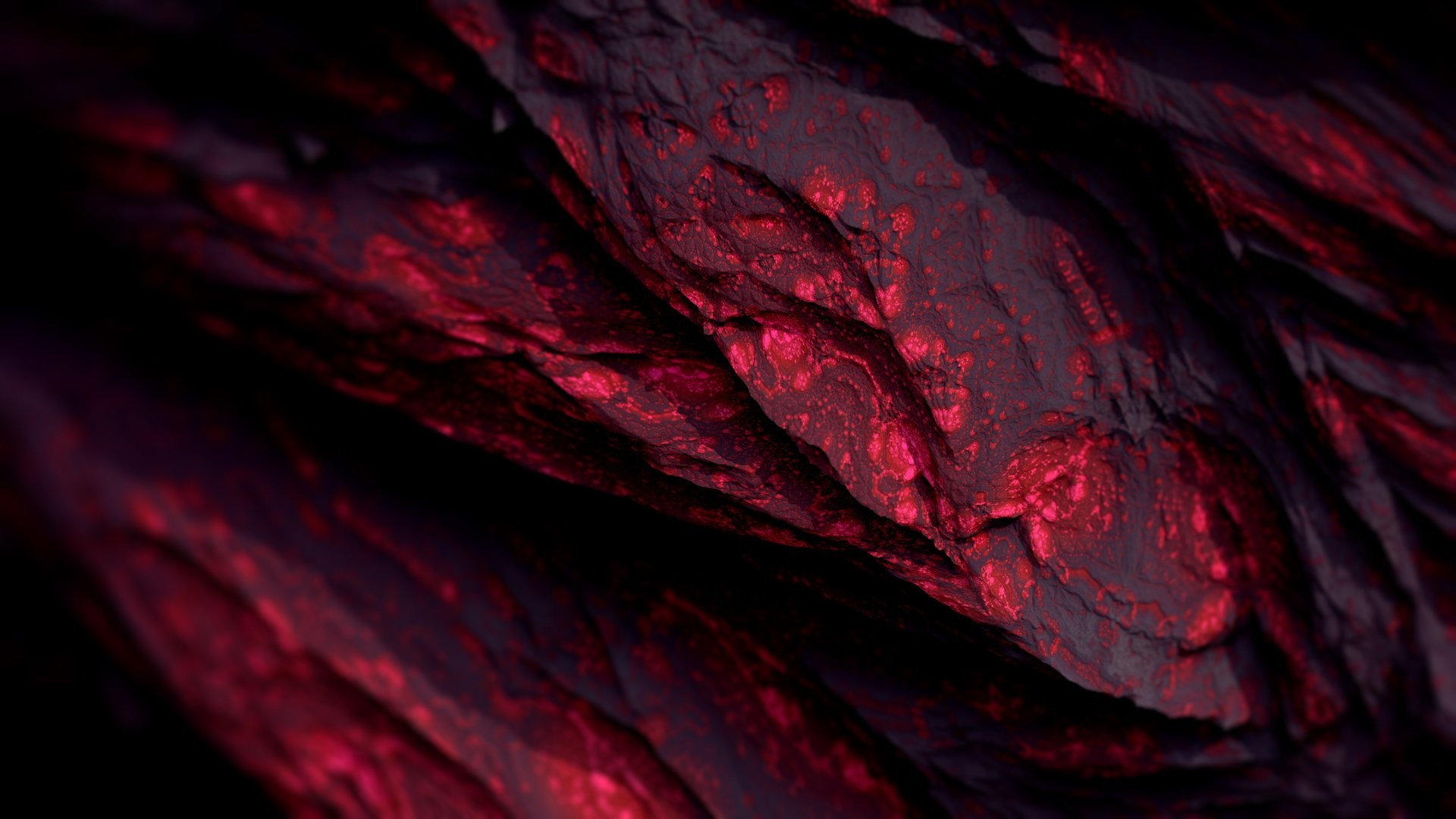 1920x1080 Red 3D Mineral Wallpaper 60559