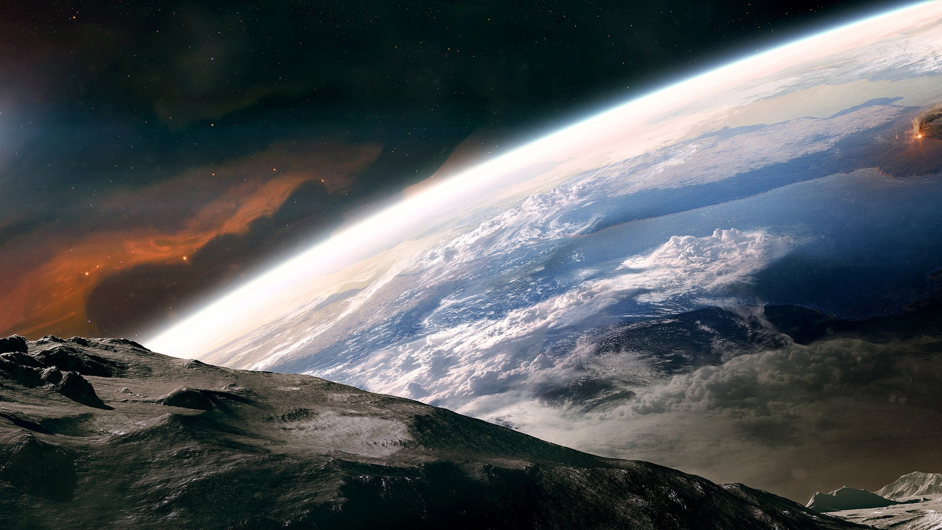 1920x1080 3D Digital Art Space Scene HD Wallpapers and Backgrounds
