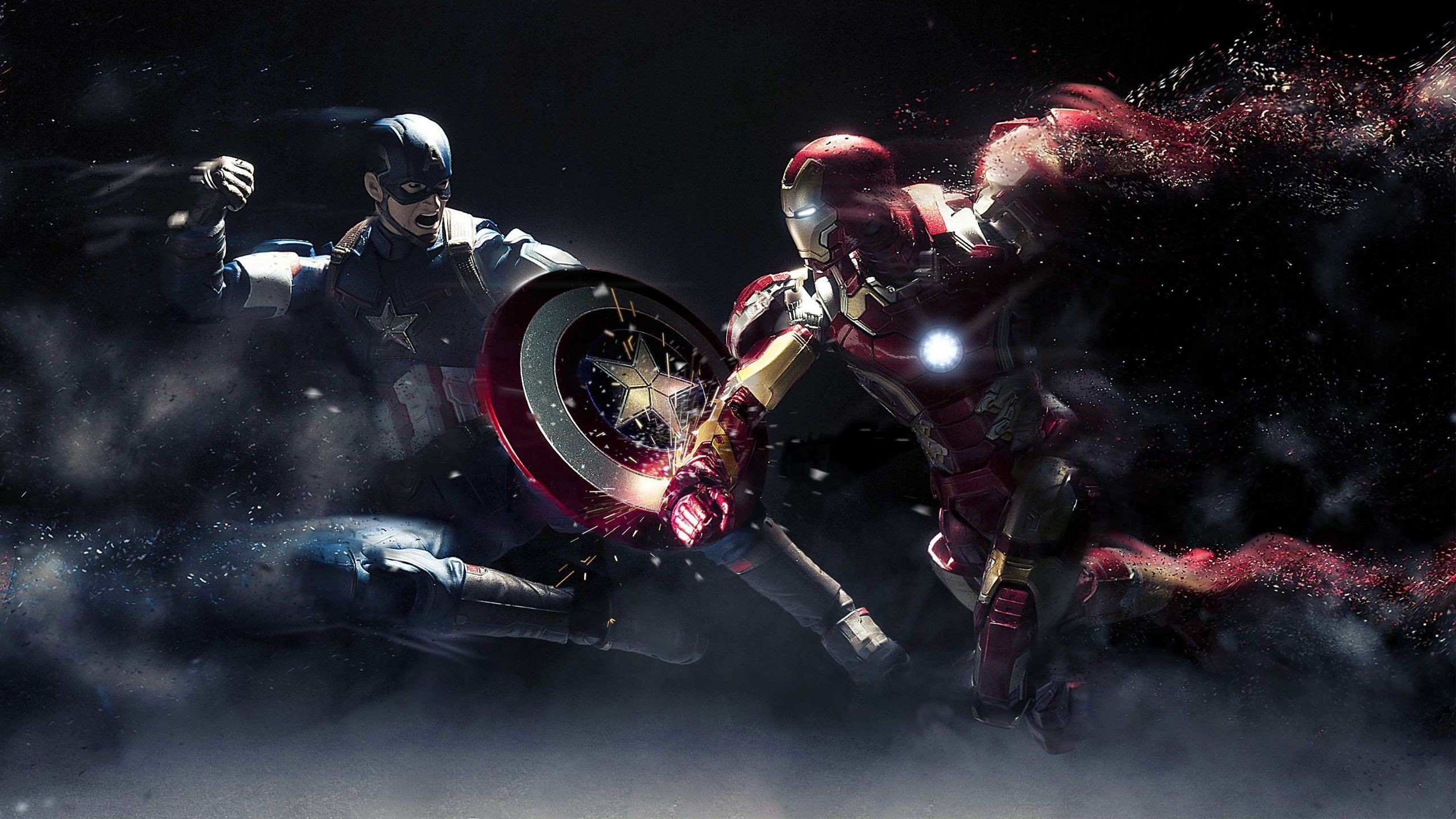 2560x1440 Captain America Vs Iron Man Wallpapers