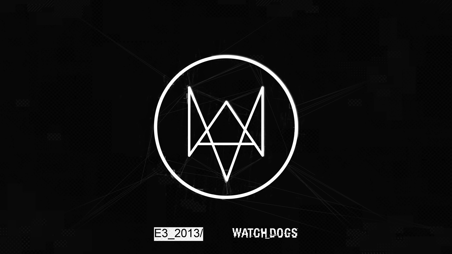 1920x1080 Watch Dogs Logo Wallpaper