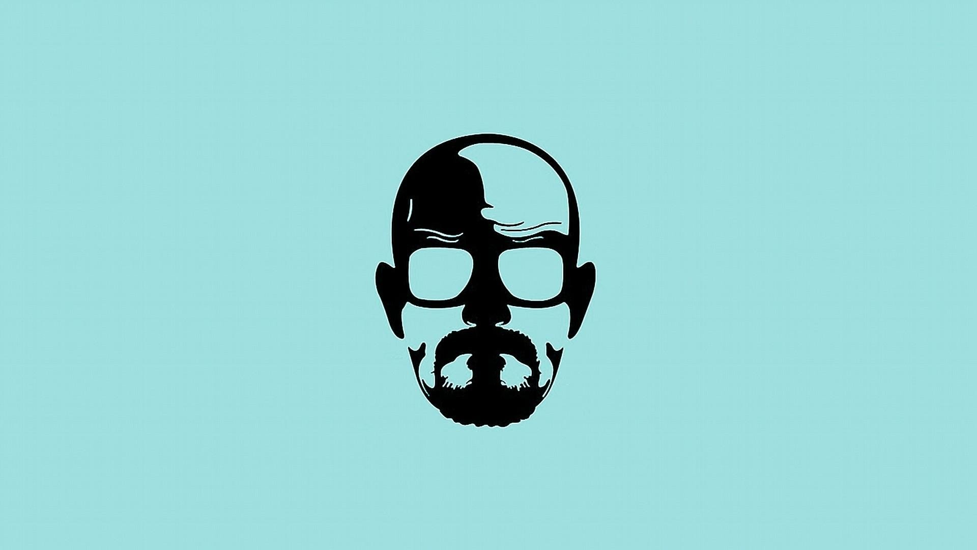 1920x1080 Blue minimalistic breaking bad walter white simple background wallpaper