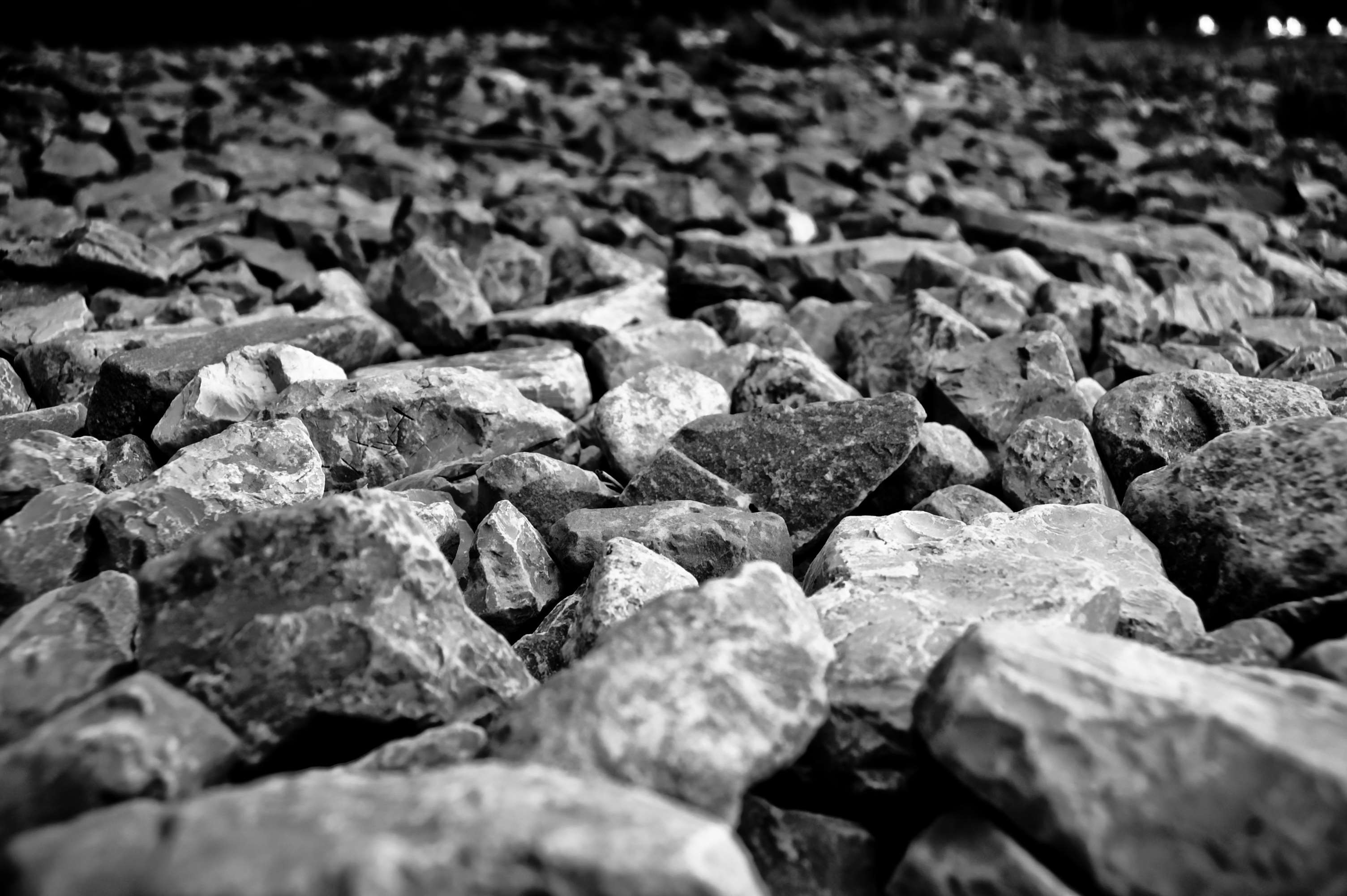 3008x2000 black and white, gravel, grey, hard, landscaping, rocks, stone wallpaper  and background