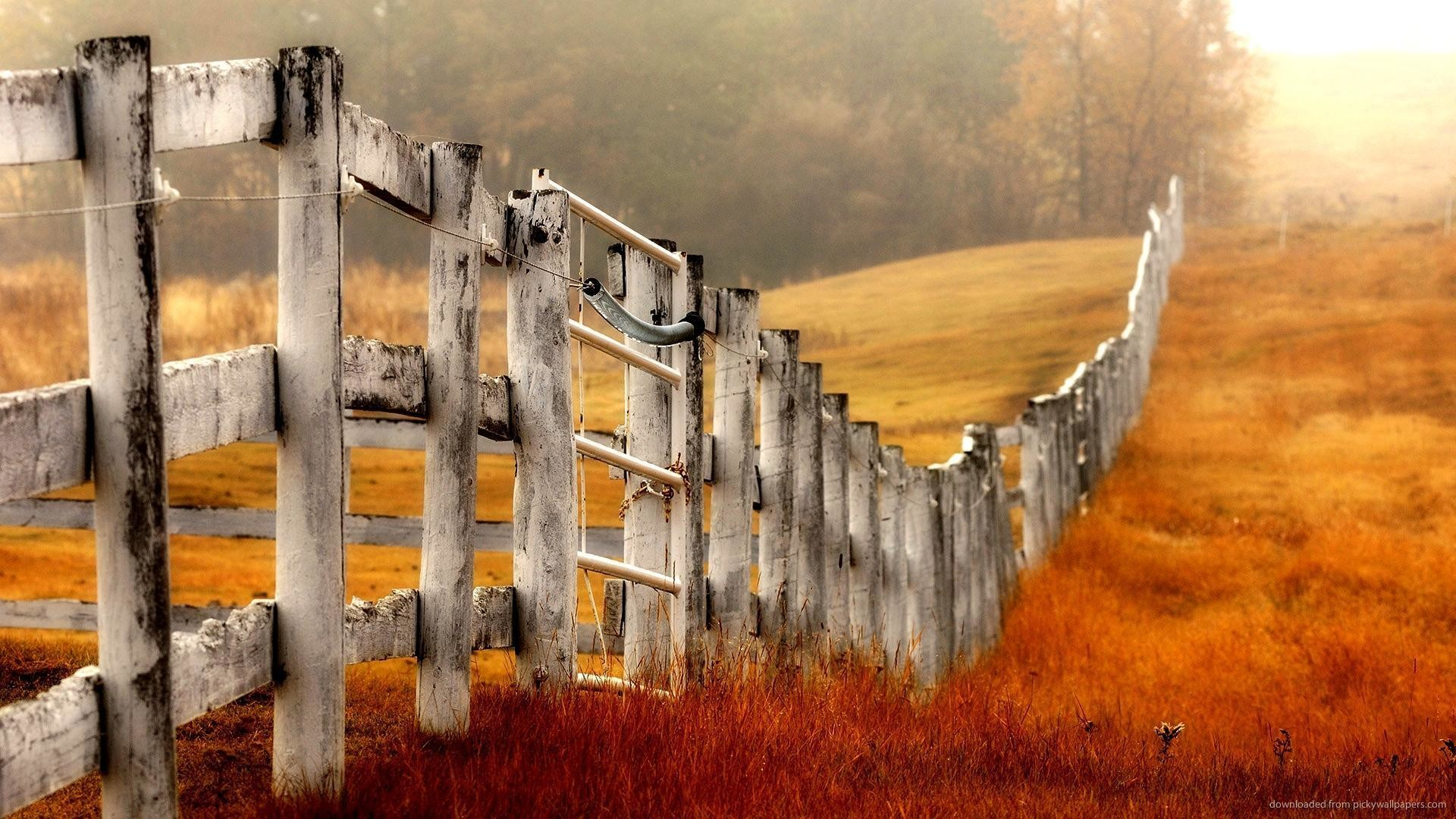 1920x1080 IPad Country Farm Fence Wallpaper Screensaver For Kindle3 And DX
