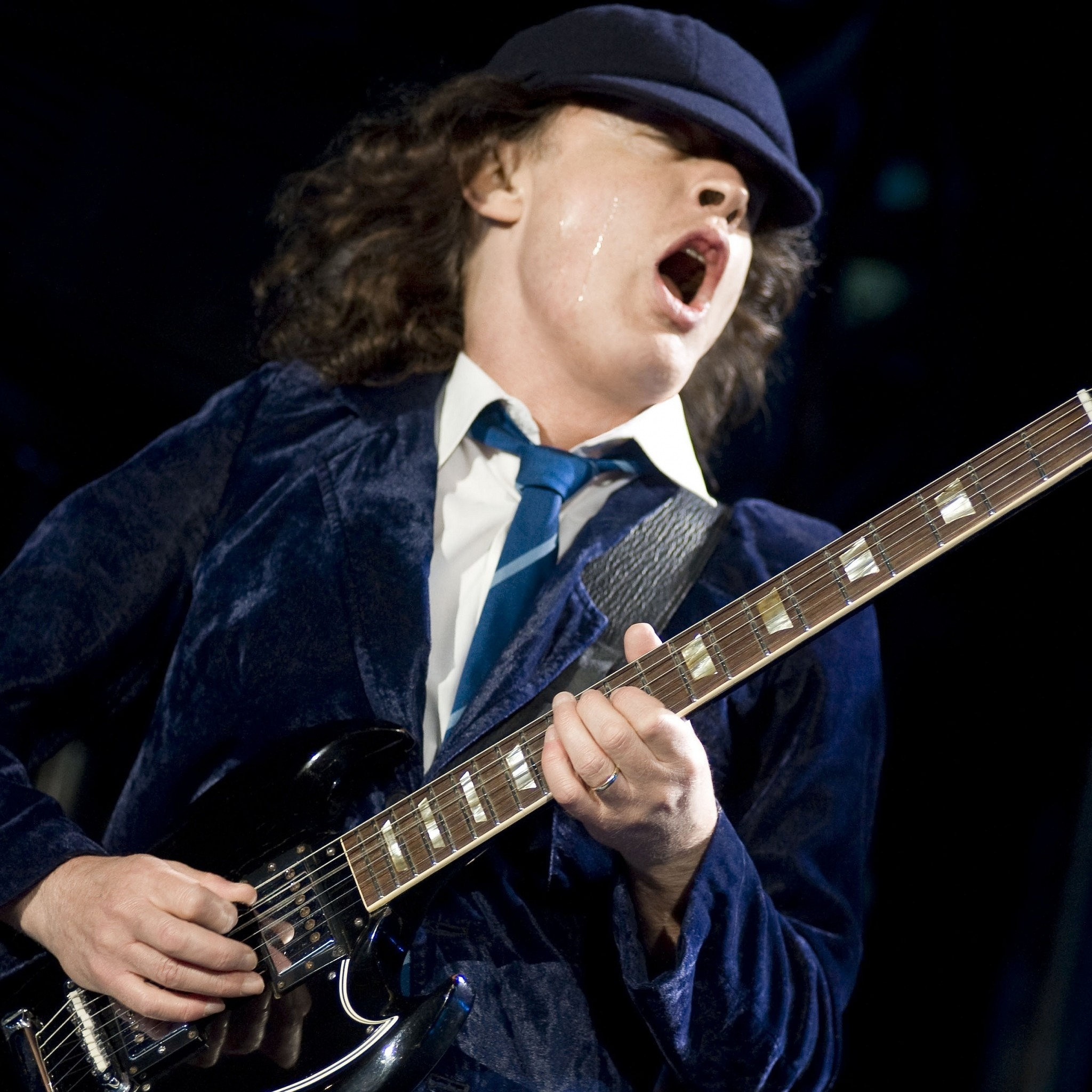 2048x2048 Preview wallpaper ac dc, angus young, guitarist, performance