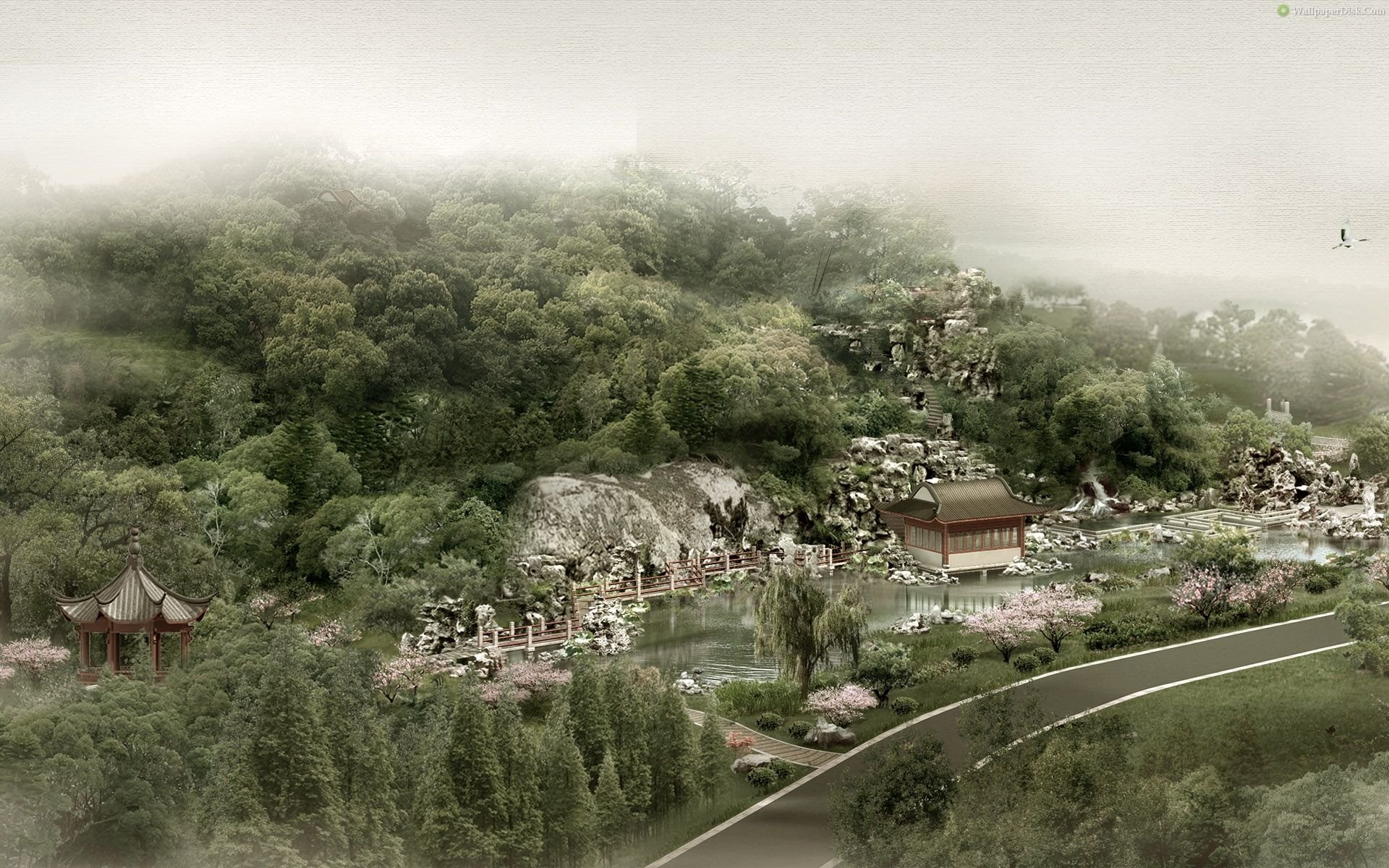 2940x2052 Chinese Mountain Painting Wallpaper