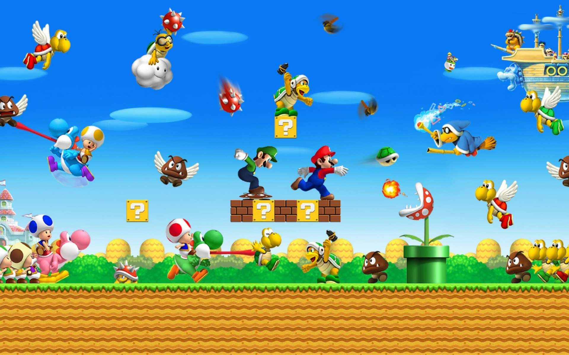 1920x1200 Super Mario Wallpaper wide pics pc - Games Backgrounds