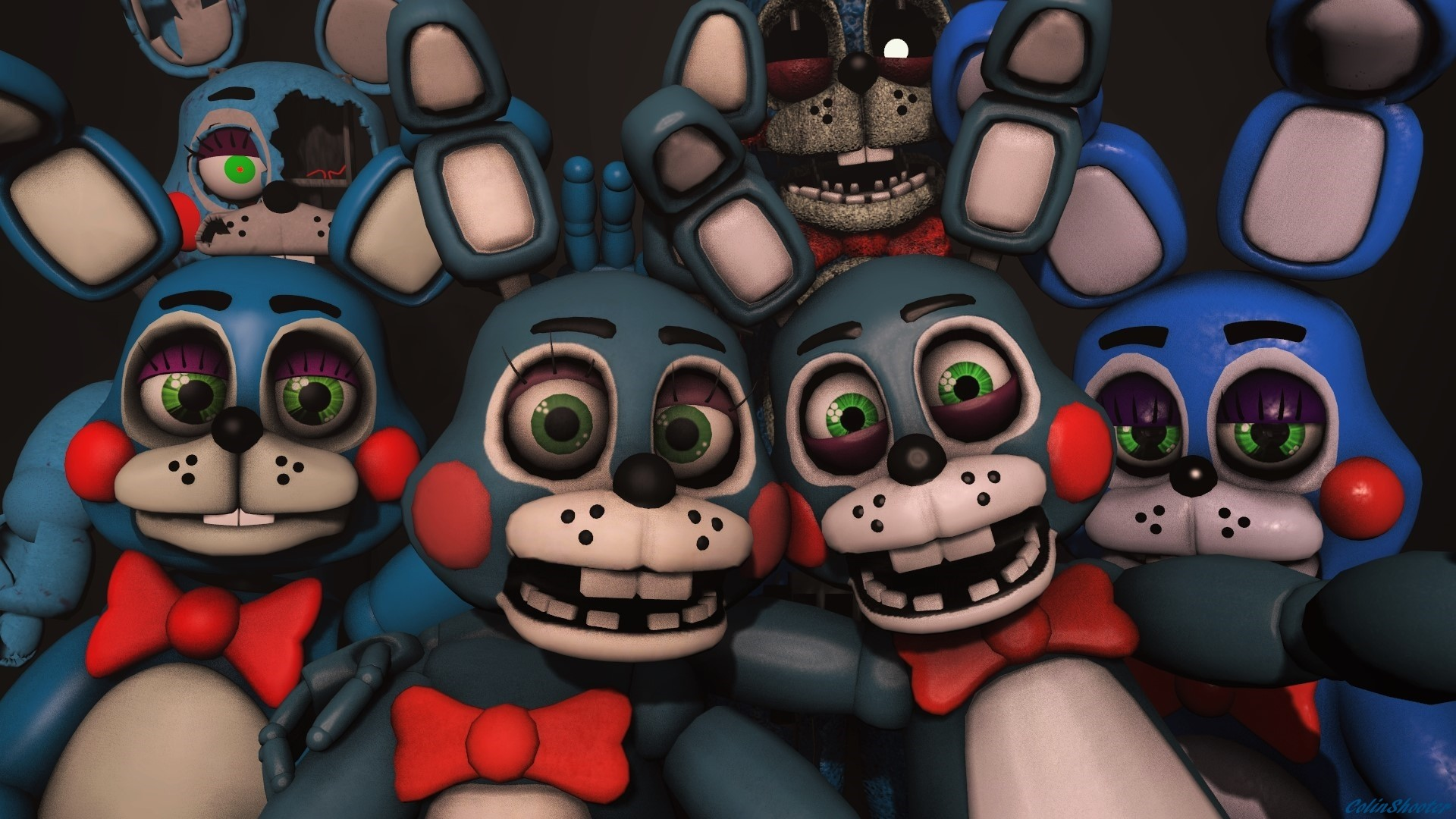 1920x1080 ... The Many faces of Toy Bonnie by ColinShooter