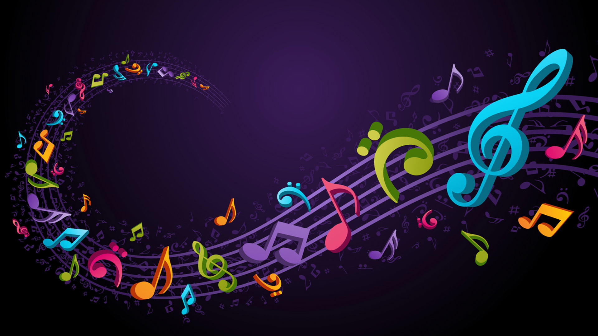 1920x1080 hd pics photos music abstract flying music notes colorful desktop  background wallpaper