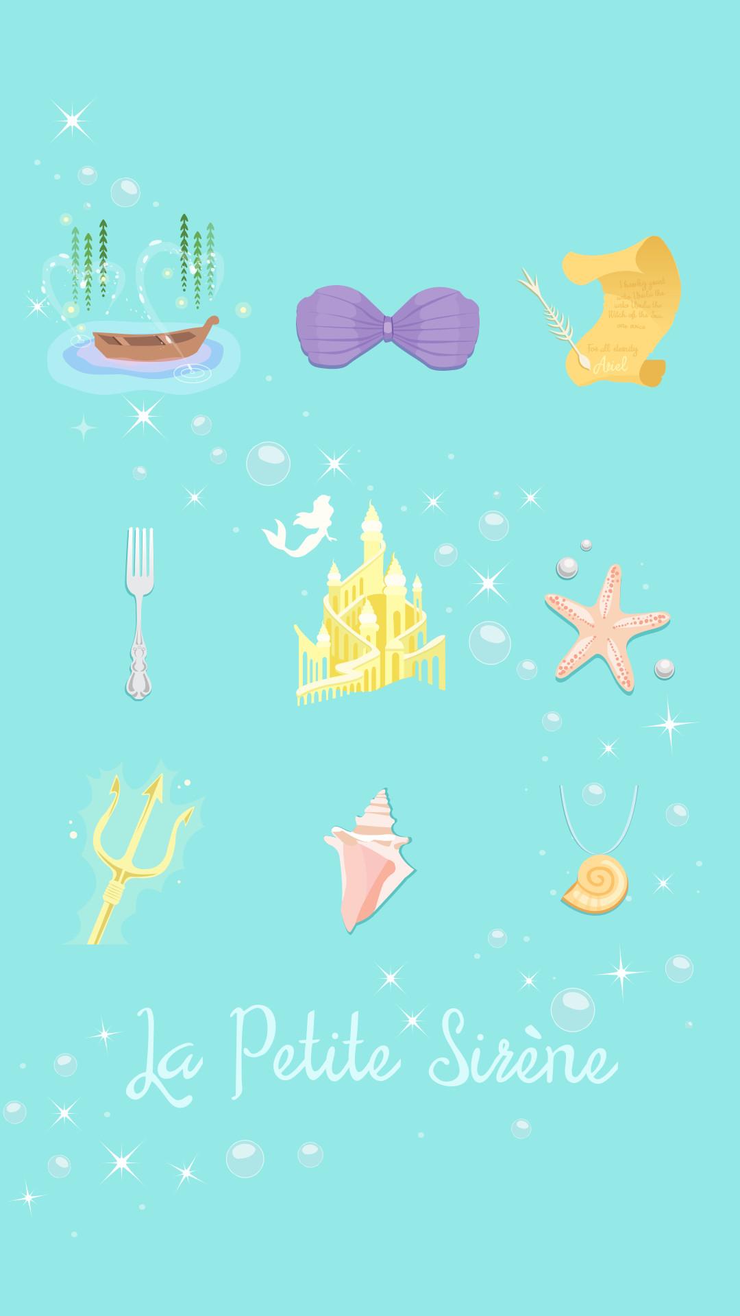 1080x1920 Iphone La Petite Sirene Little Mermaid Ariel Wallpaper Crecre Fond DACcran