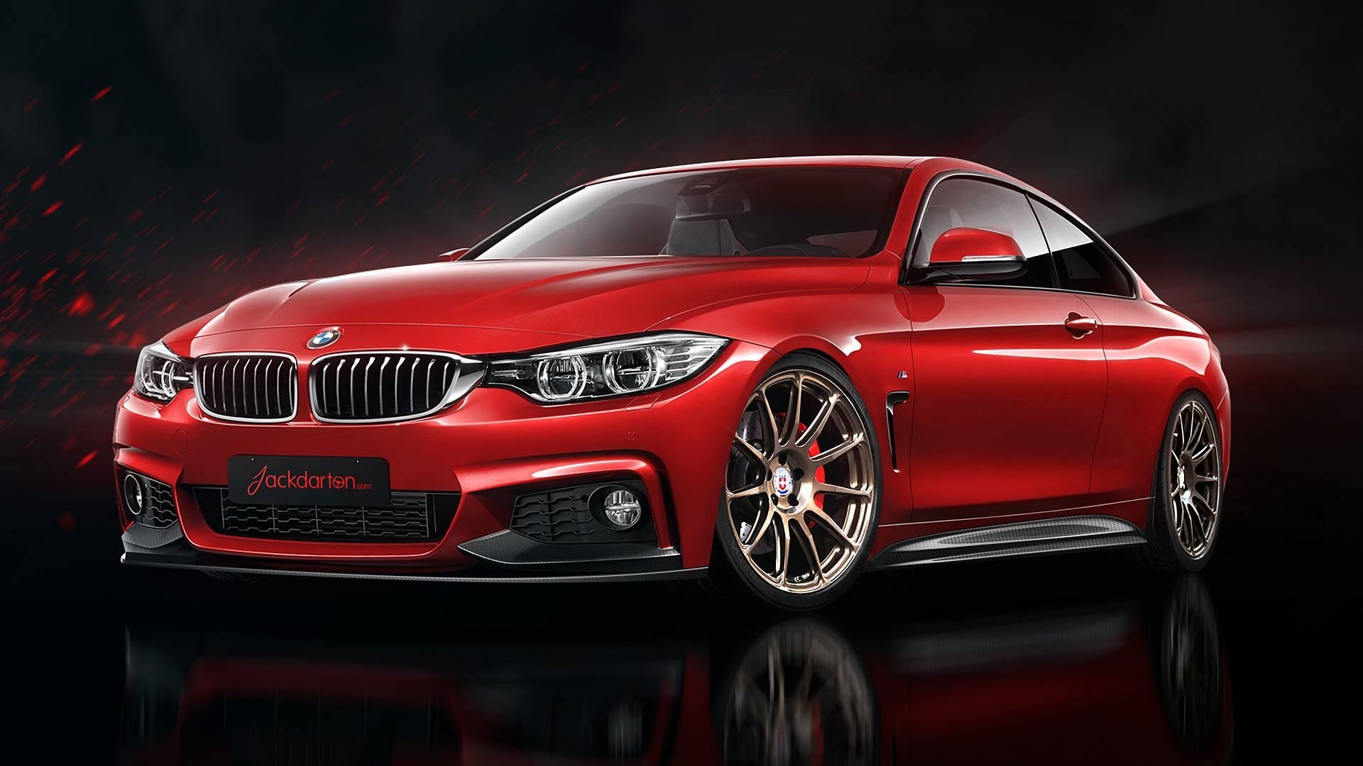 1920x1080 #BMW #F32 #435i #Coupe #MPackage #xDrive #Red #Devil