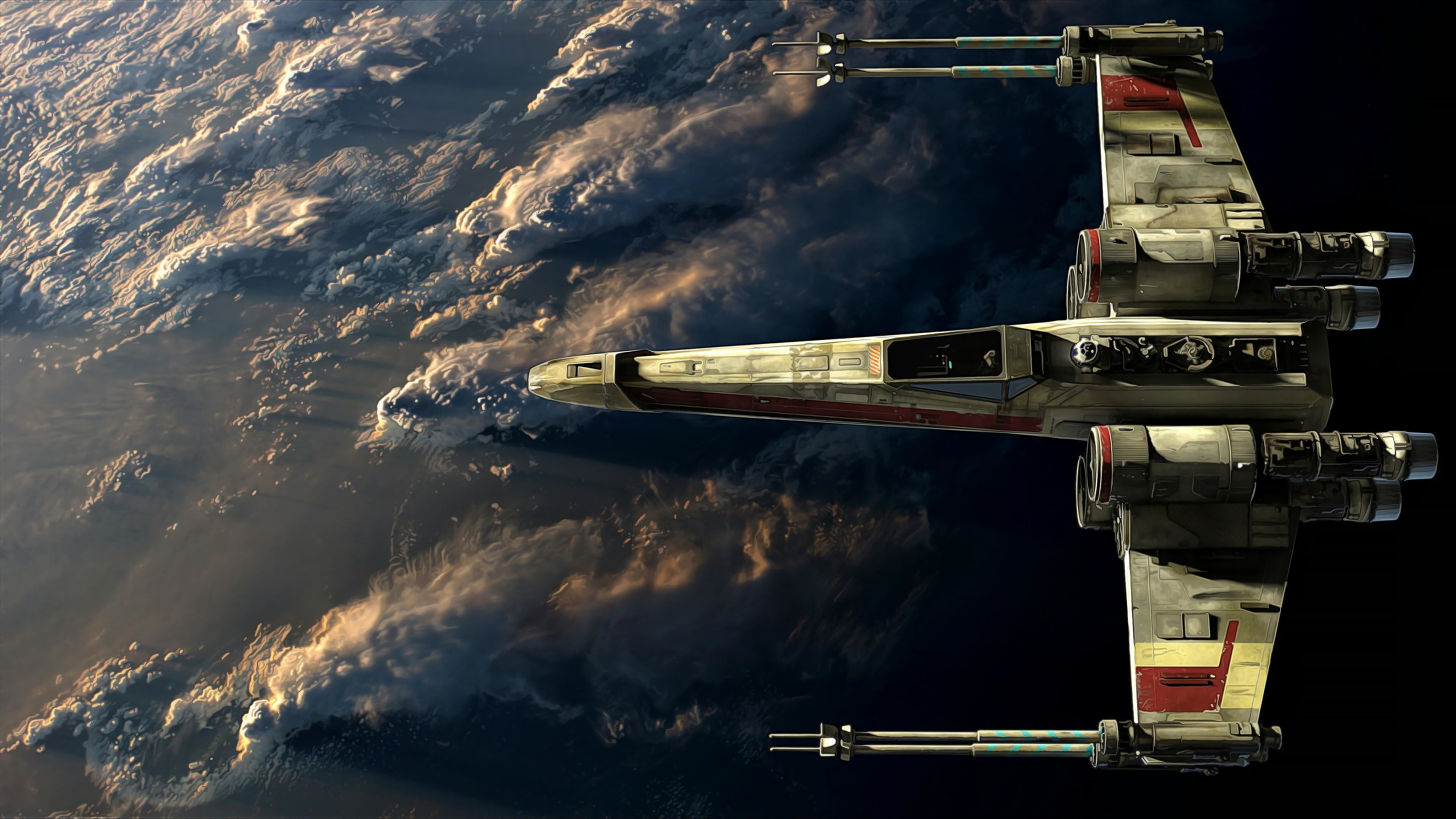 3840x2160 X-Wing in Orbit...or something