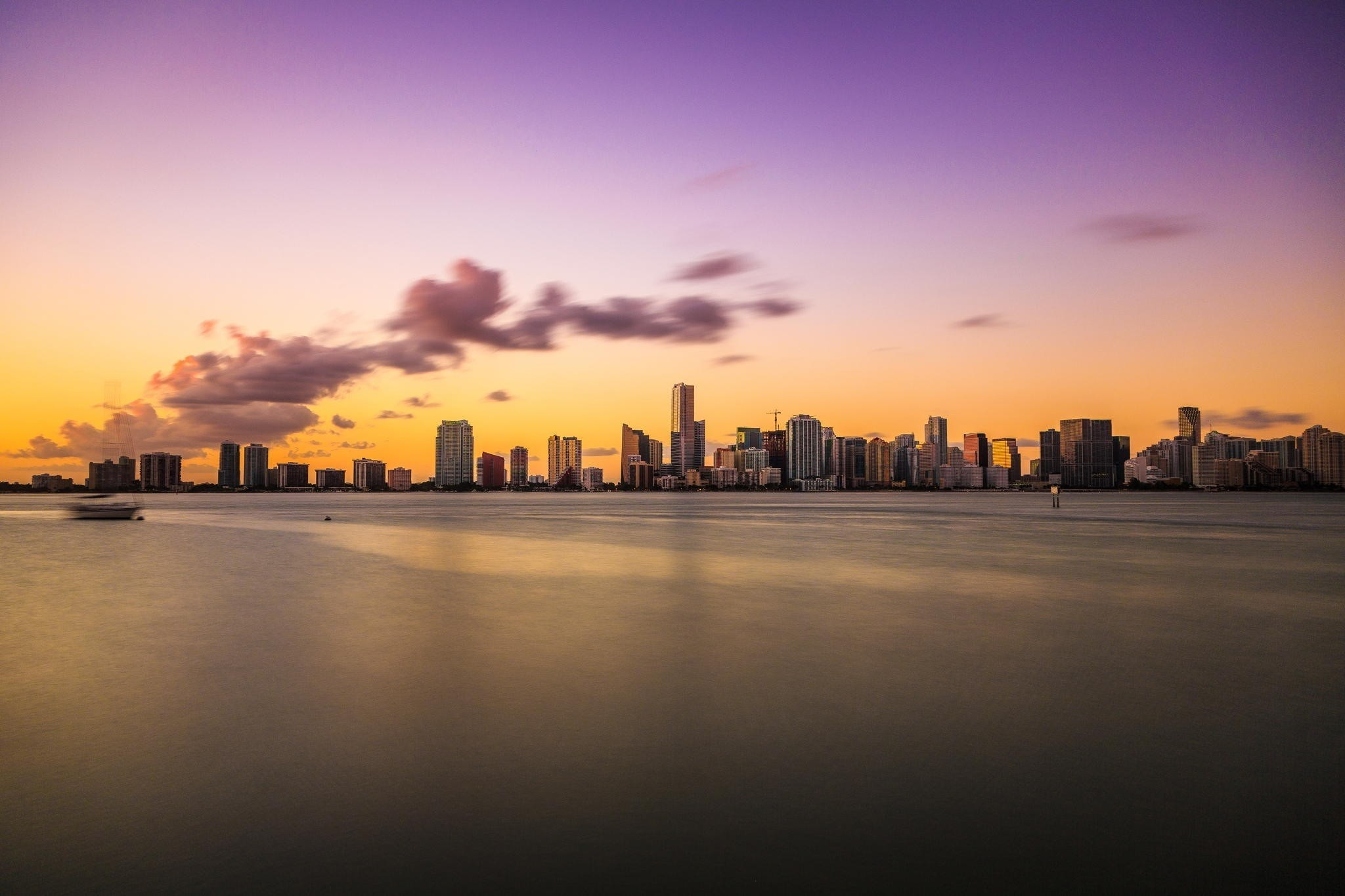 2048x1365 Wallpaper Vice city, florida, Miami, evening, ocean, decline » City,  nature, landscapes - Free HD Desktop Wallpapers. Backgrounds of cities and  nature