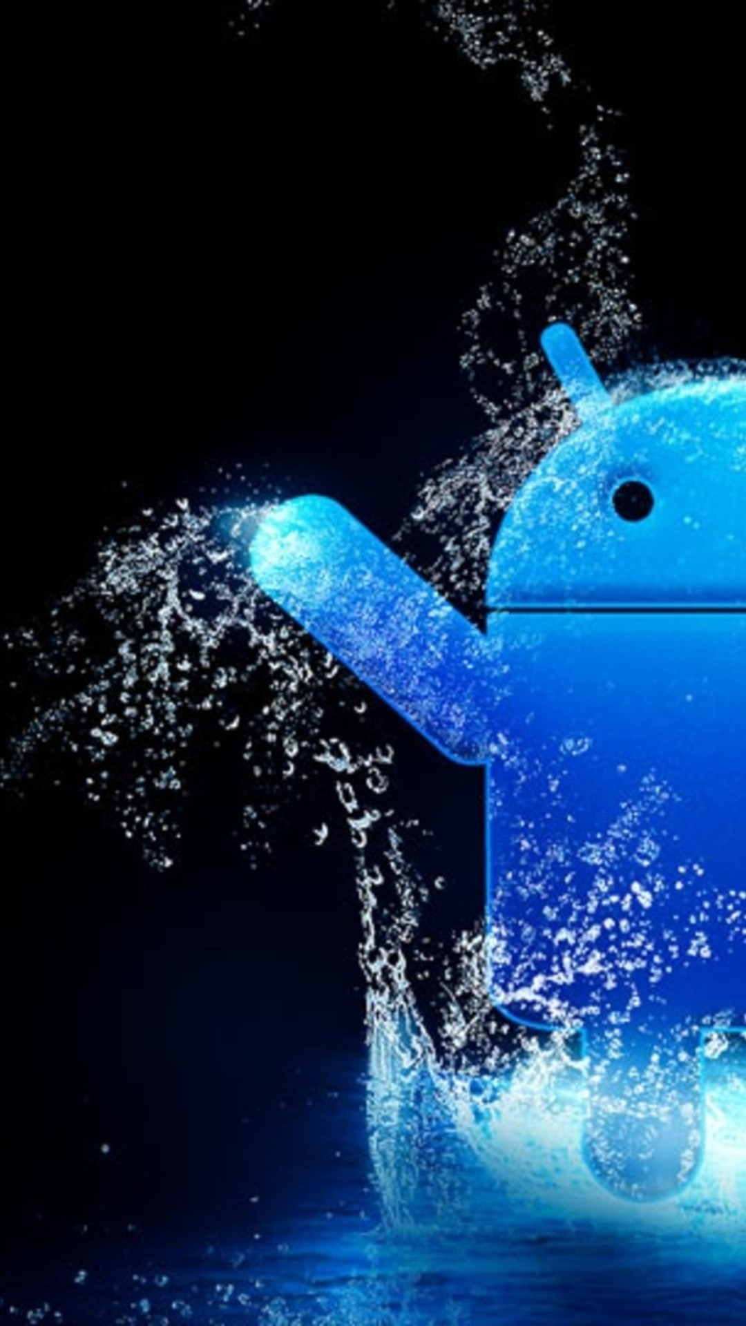 1080x1920 Blue Water Android Logo Android Wallpaper ...