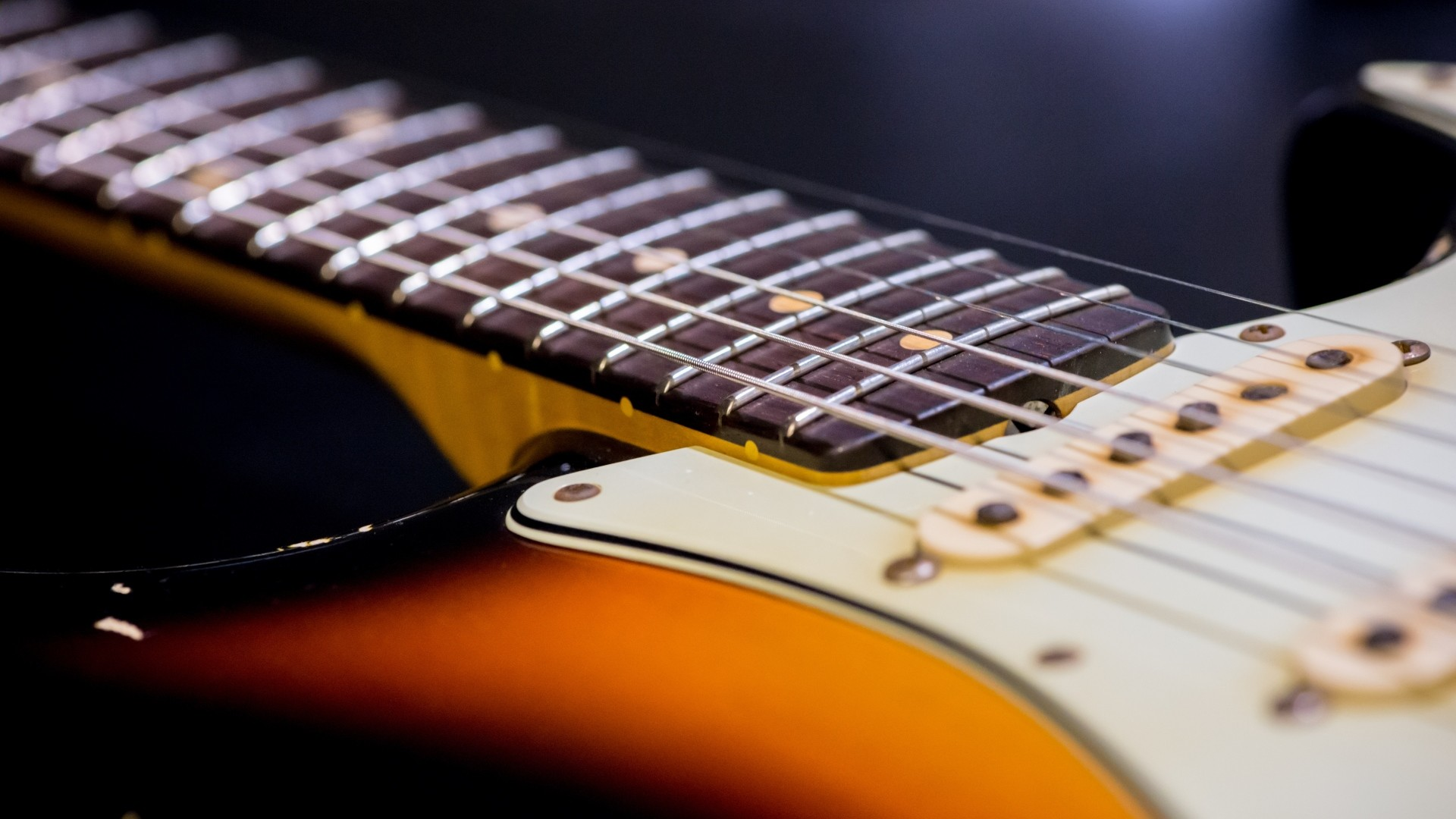 1920x1080 Preview wallpaper guitar, strings, neck