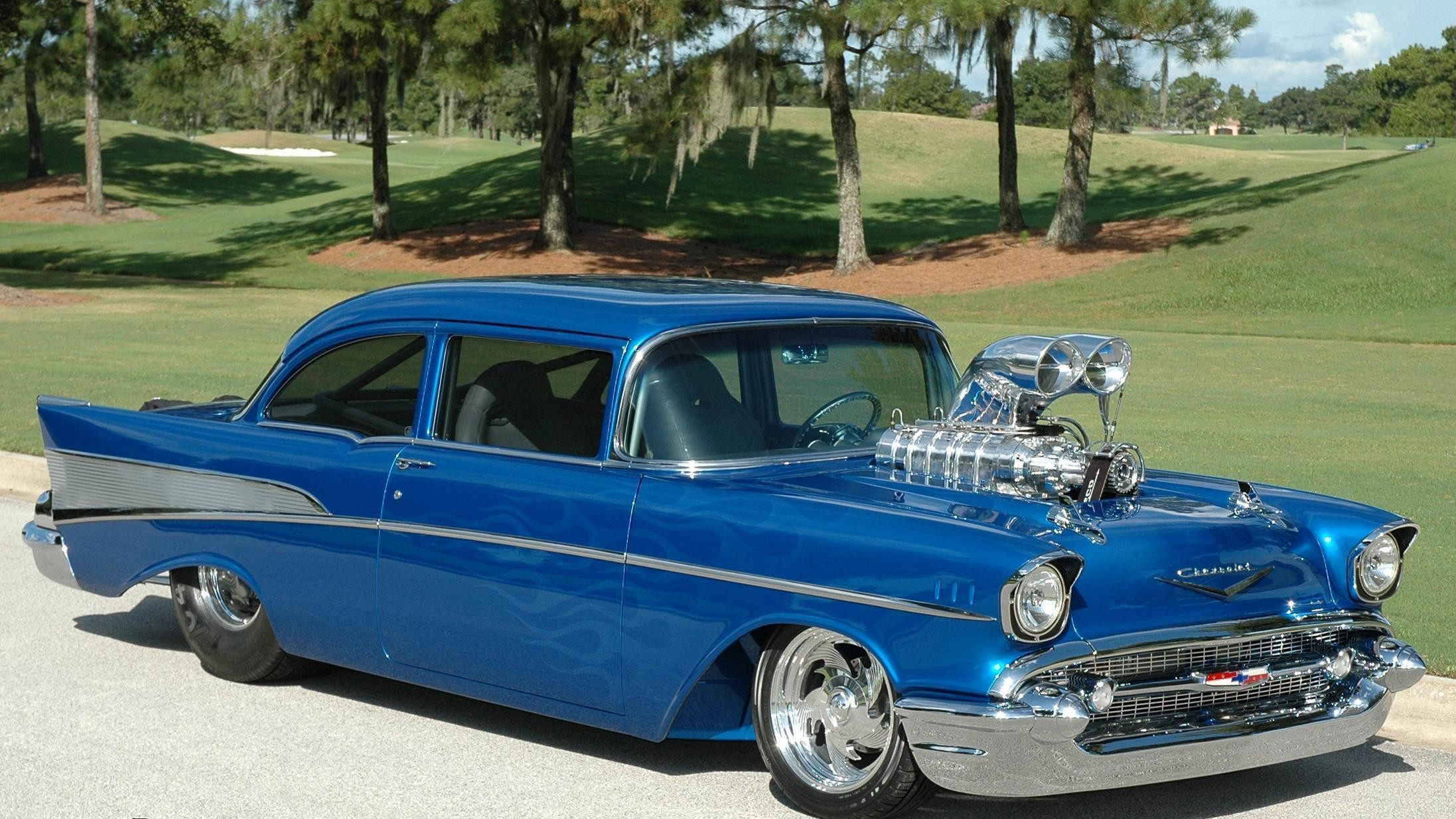 2194x1234 57 chevy bel air hd desktop wallpaper widescreen high car baby walker