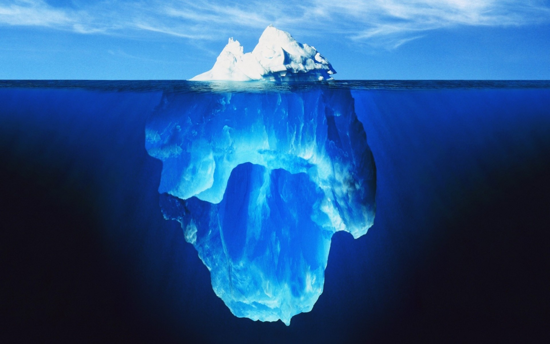 1920x1200 Bild: Deep Blue Ocean & Ice Berg wallpapers and stock photos. Â«
