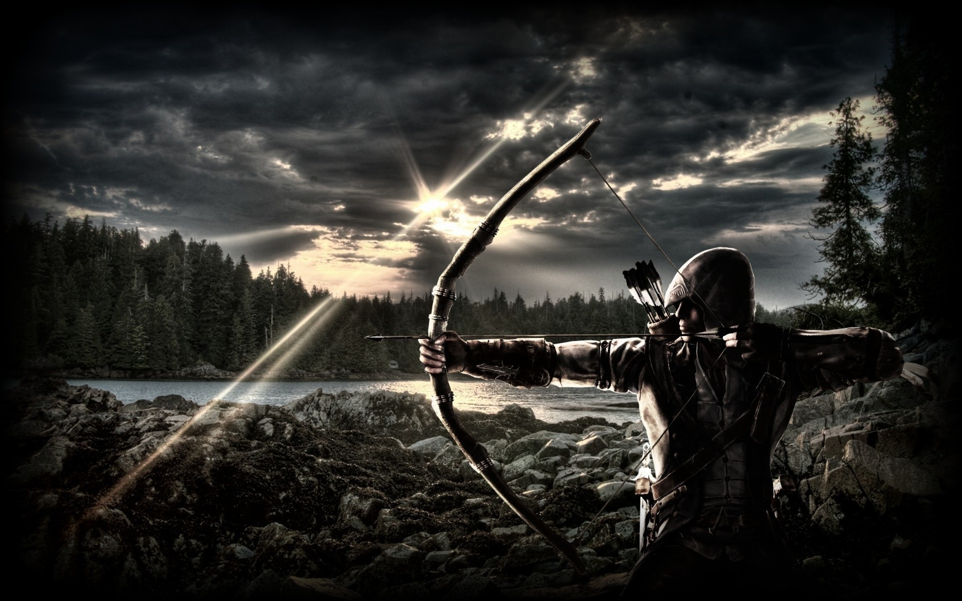 Bow and arrow wallpaper