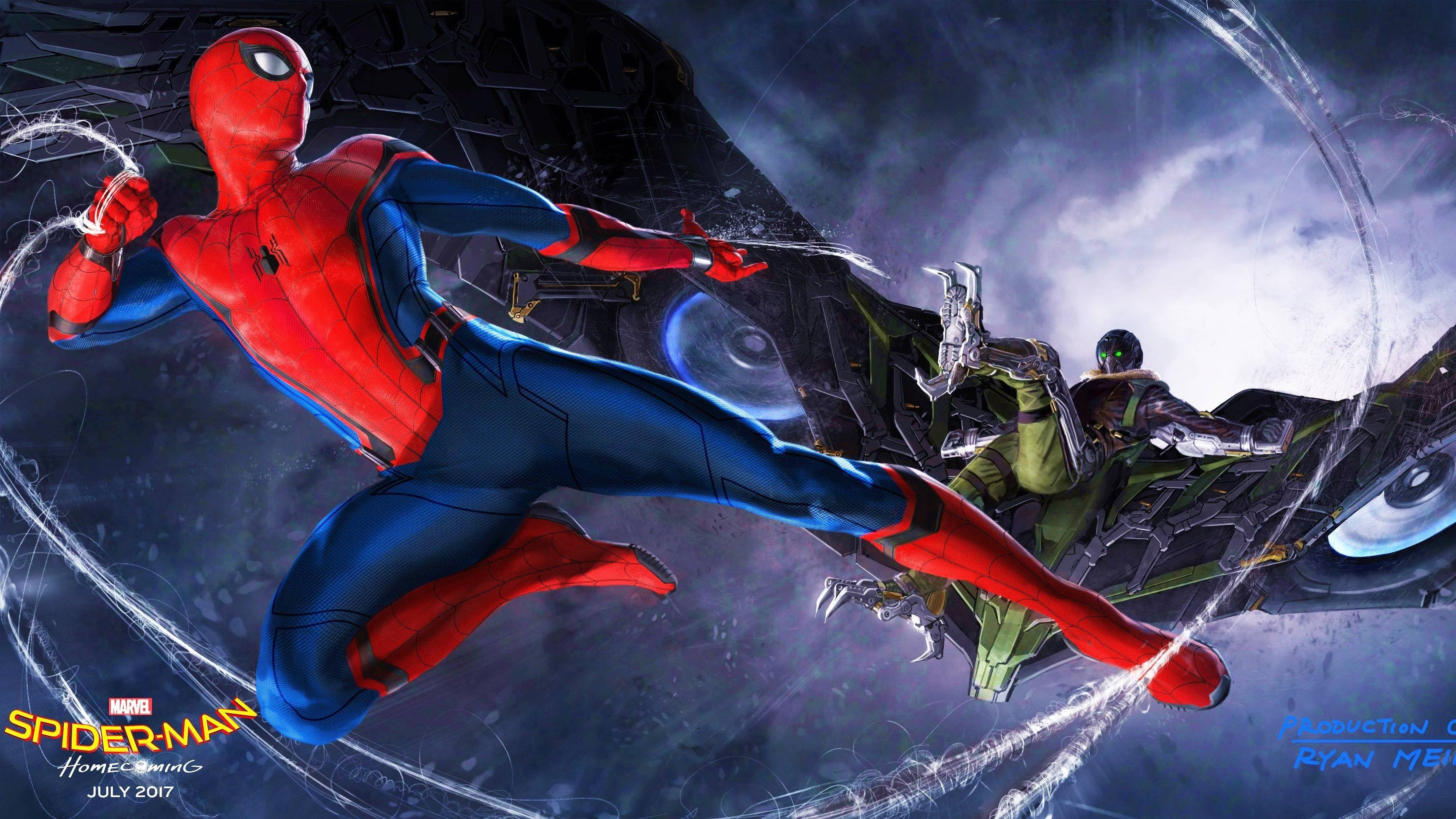 3454x1943 Spider-Man: Homecoming Backgrounds Spider-Man: Homecoming Pictures