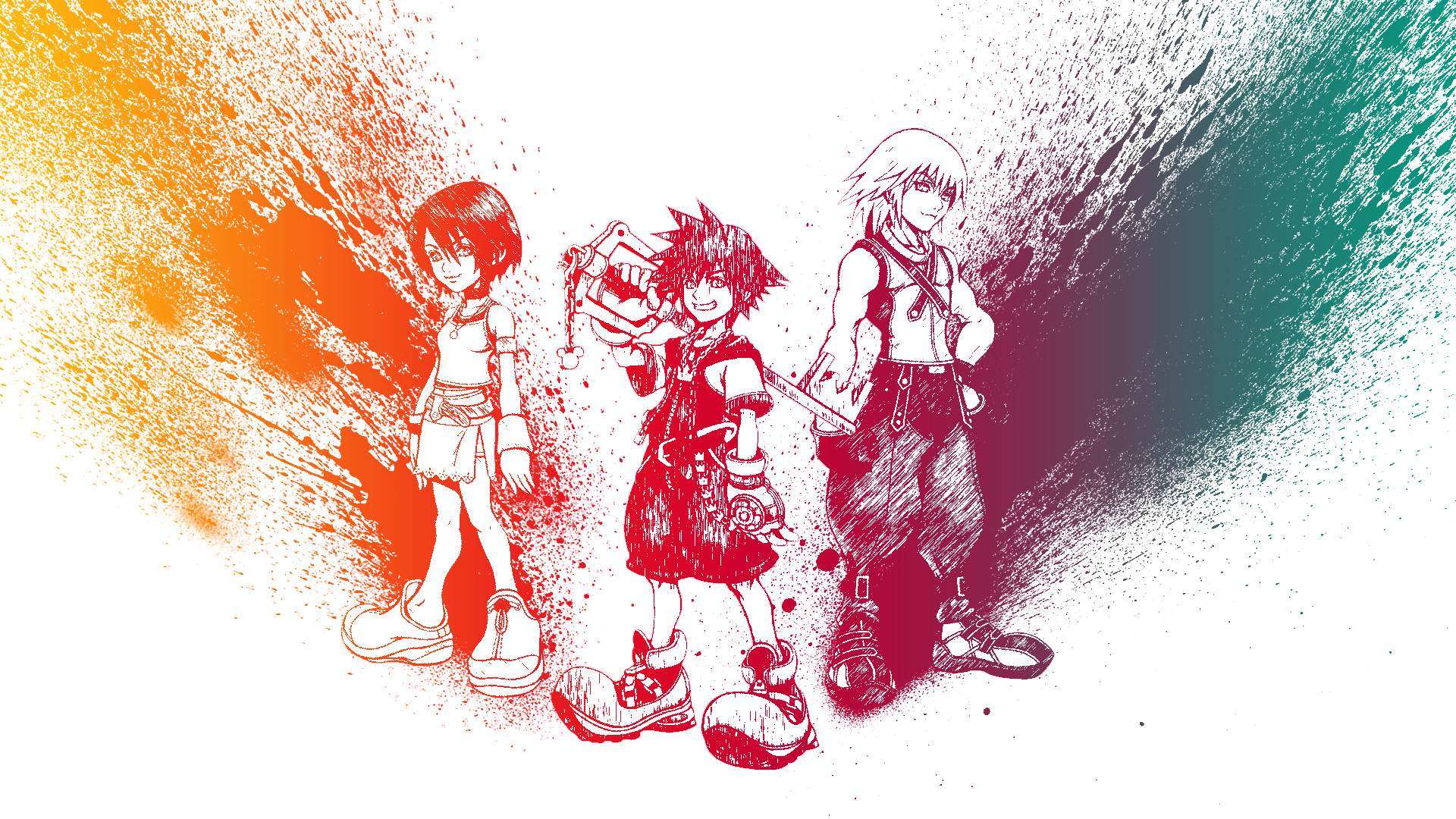 1920x1080 ... Kingdom Hearts: Destiny Island's Trio by heroshade