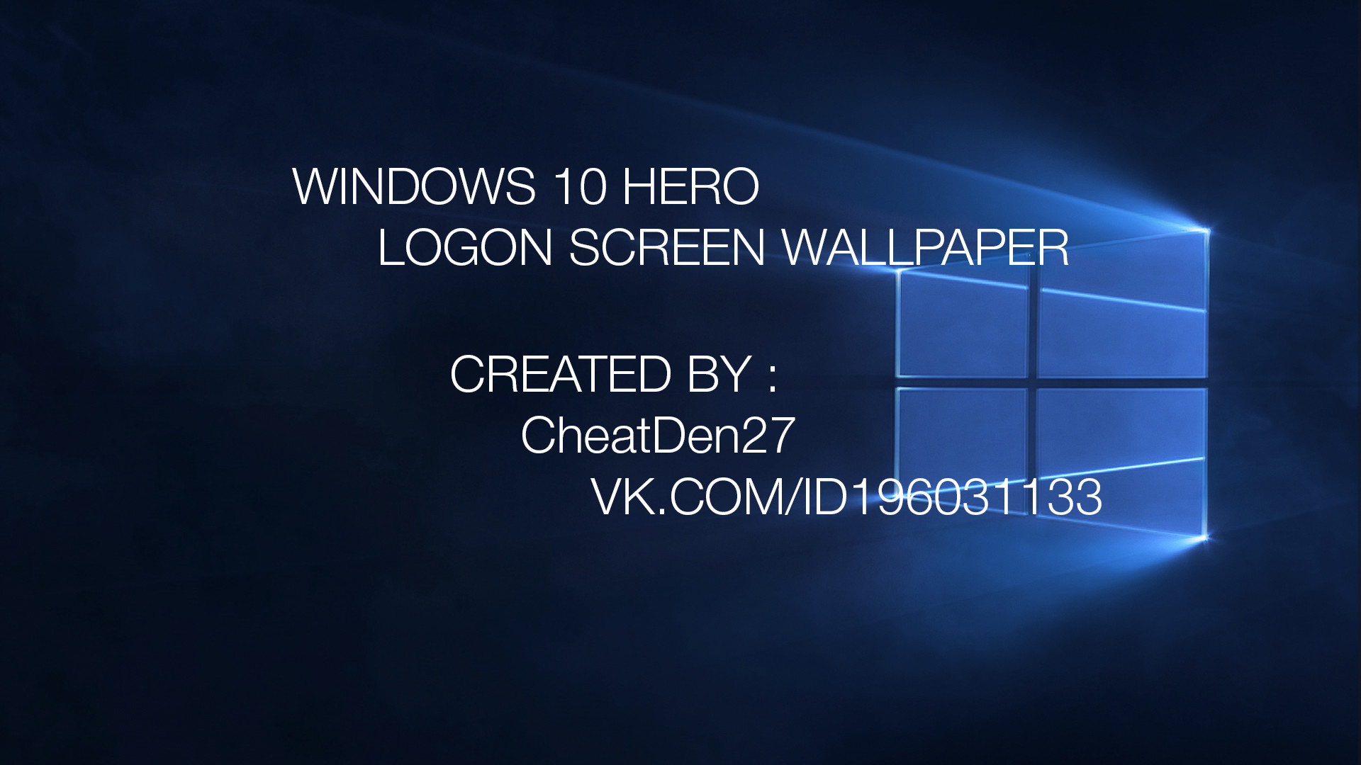 1920x1080 ... Windows 10 Hero Logon Screen Wallpaper by cheatden27