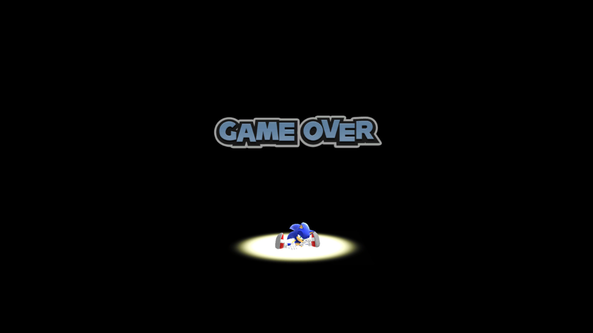 1920x1080 The Game Over screen of the Wii U/PC version of Sonic Lost World.