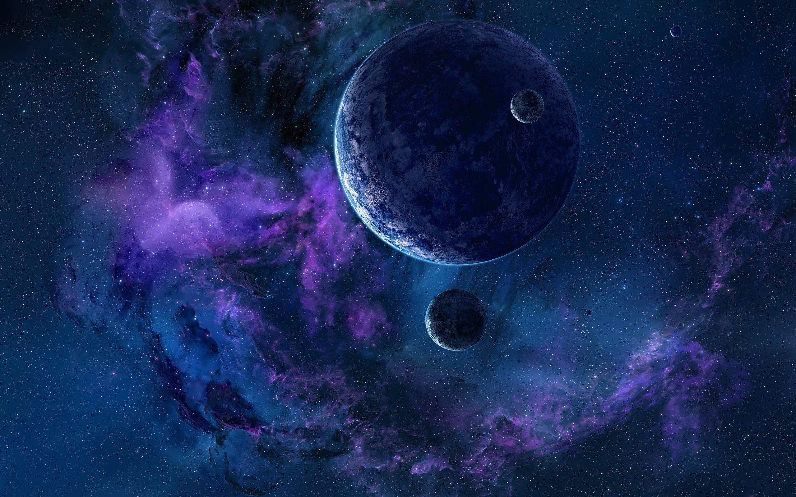 2560x1600 Space Stars And Planets Wallpaper