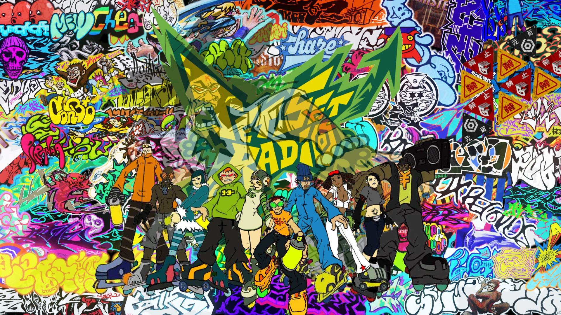 1920x1080 Video Game Jet Set Radio Wallpaper 1920x1080 px Free Download .