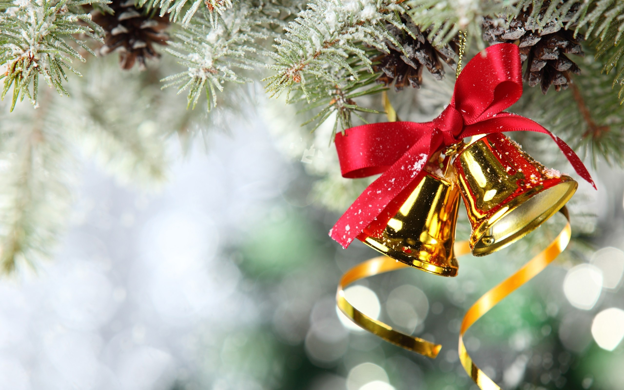 2560x1600 Christmas Bell Wallpapers