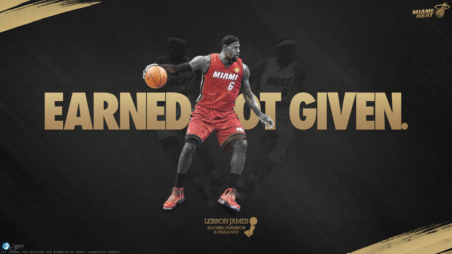 1920x1080 LeBron James Title Earned Not Given Wallpaper
