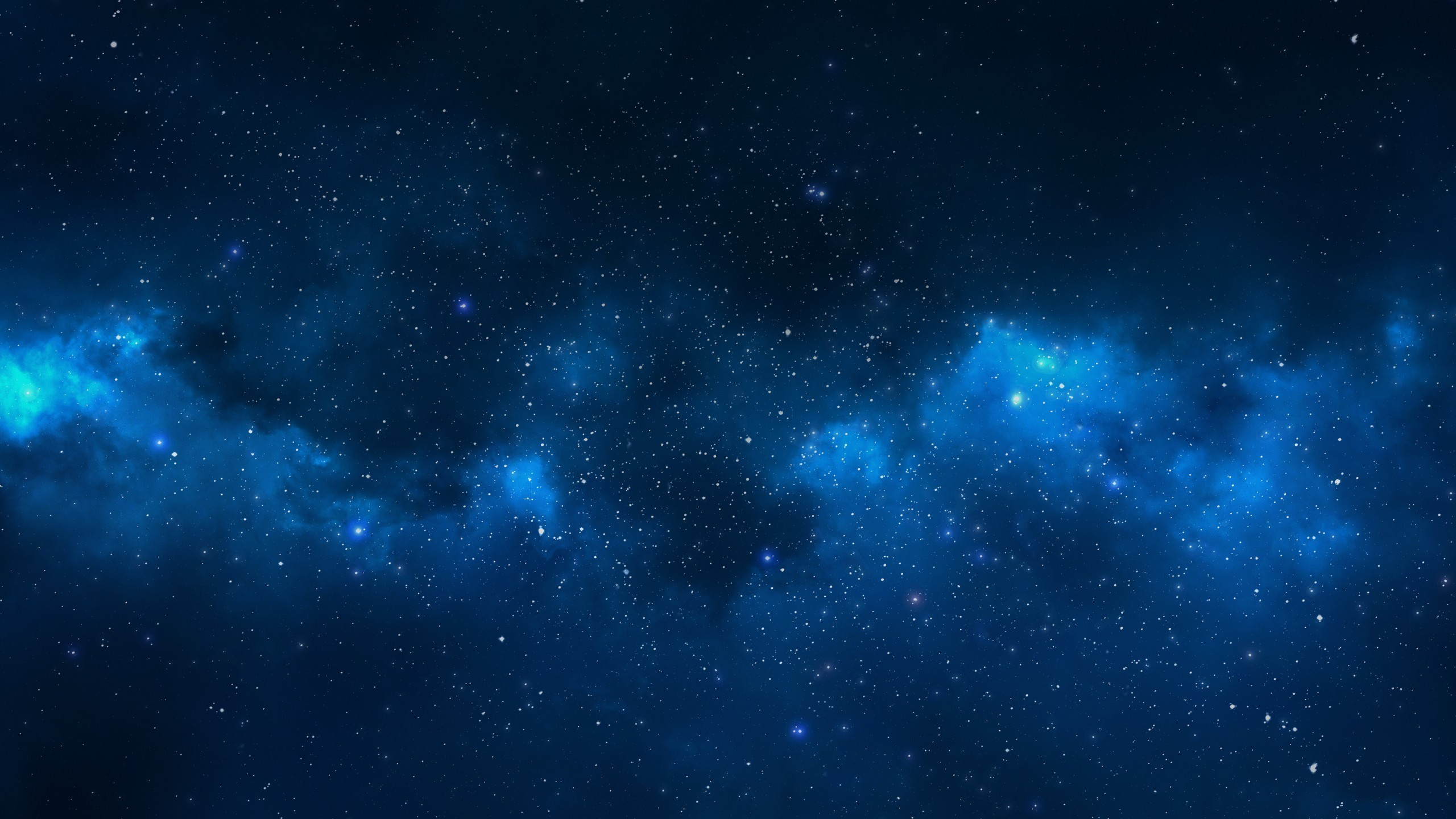 2560x1440 Blue Space simple background