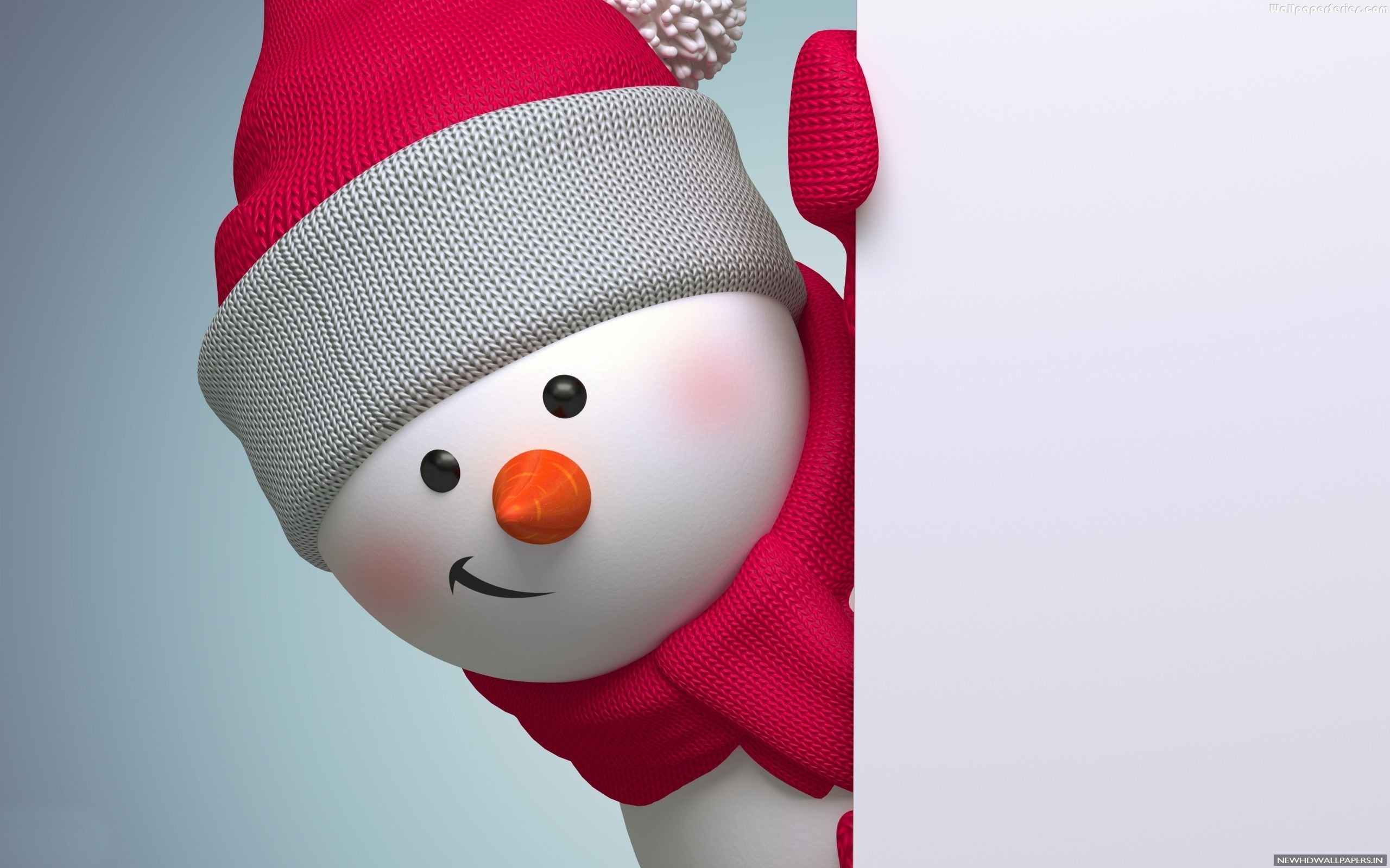2560x1600 Cute Merry Christmas Snowmen Wallpaper New HD Wallpapers