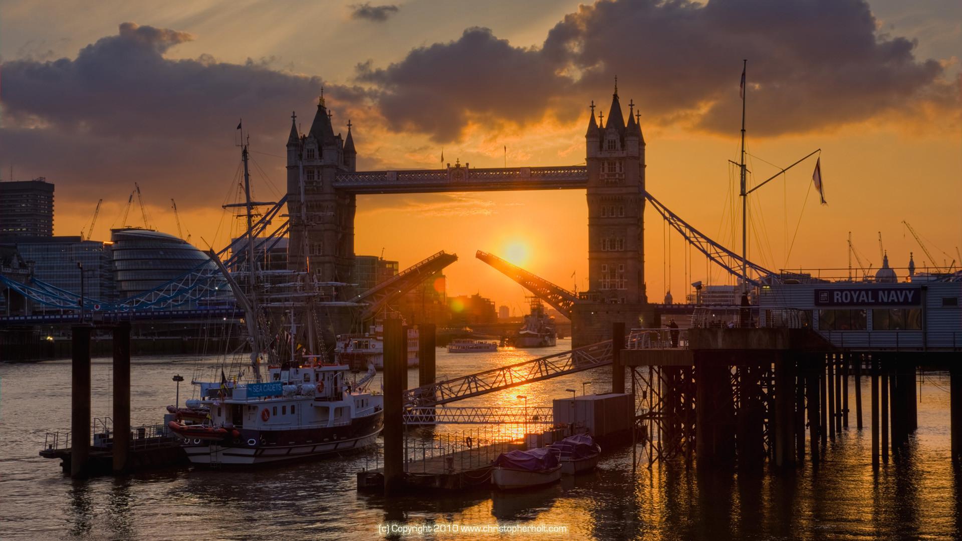 Download Wallpaper 1920x1080 River Sunset Bridge: London Bridge Wallpaper (59+ Images