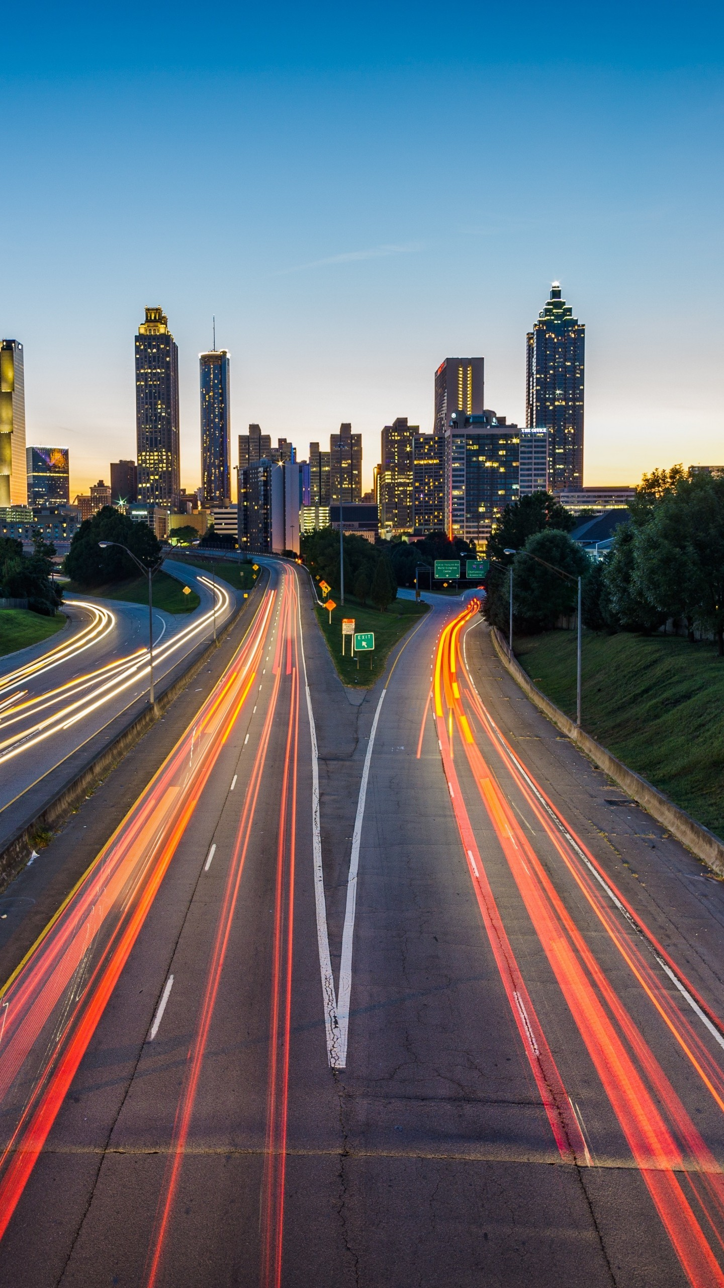 1440x2560 Atlanta Usa Road Skyscrapers Wallpaper  768x1365