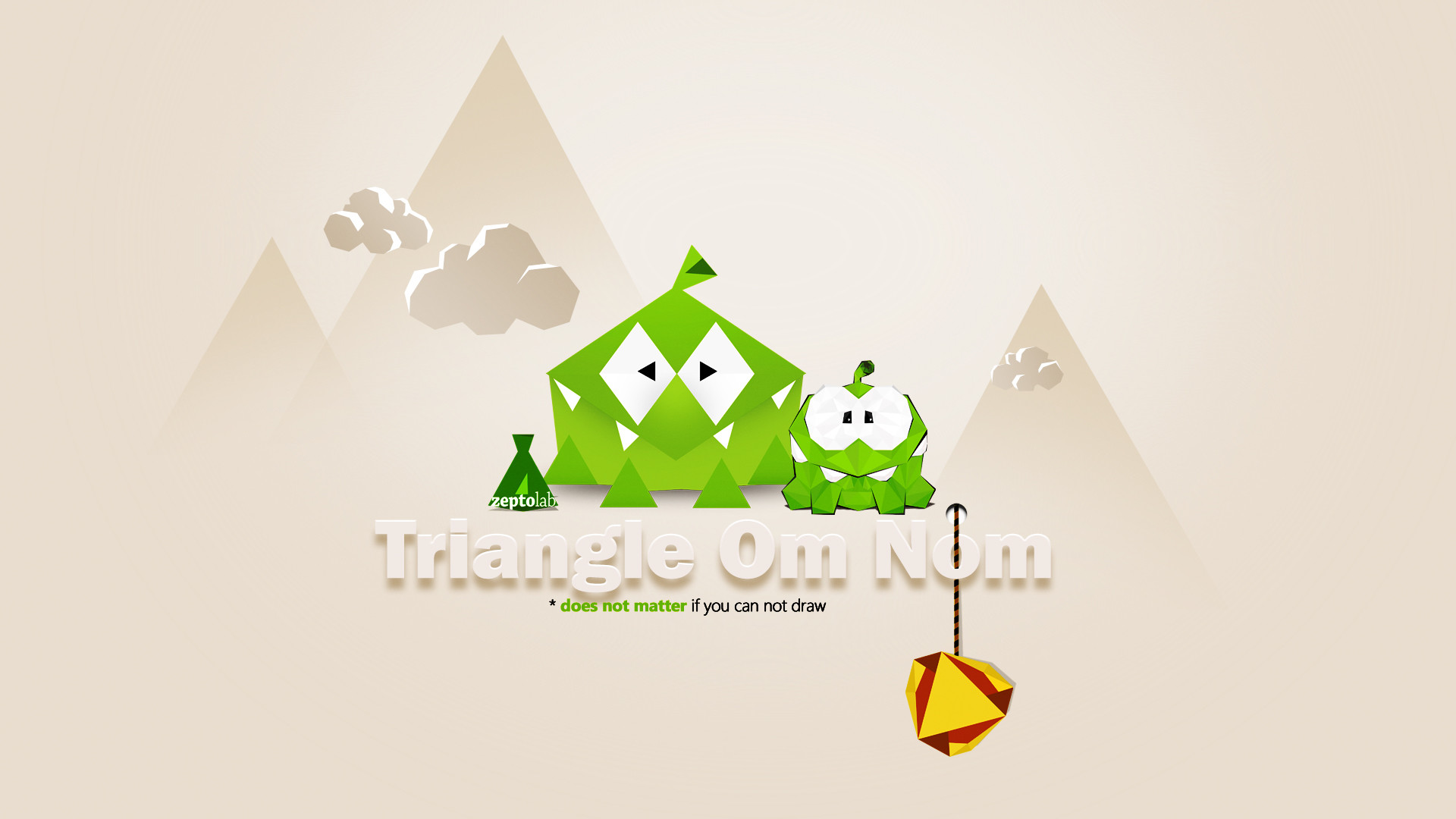 1920x1080 ... Tringle Om Nom Wallpaper - Cut the Rope by zsoltott