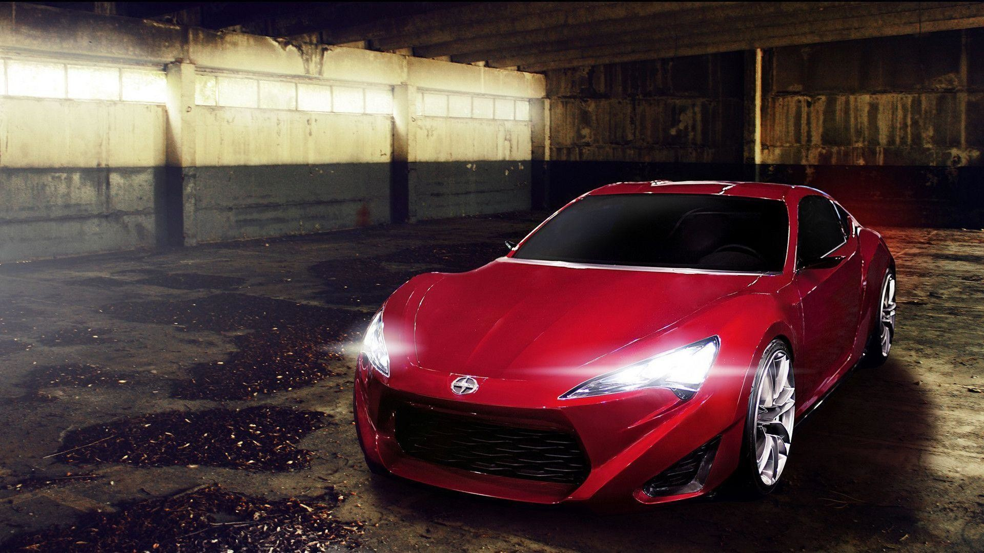 1920x1080 Scion Red Car Hd Desktop Wallpaper