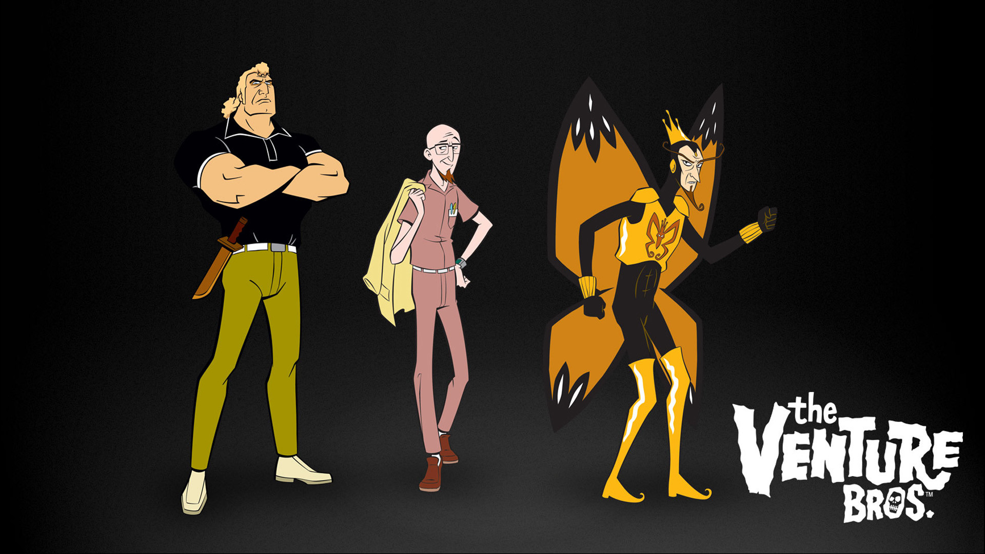 1920x1080 The Venture Bros., crowns, butterfly wings, The Monarch, Brock Samson -  Free Wallpaper / WallpaperJam.com