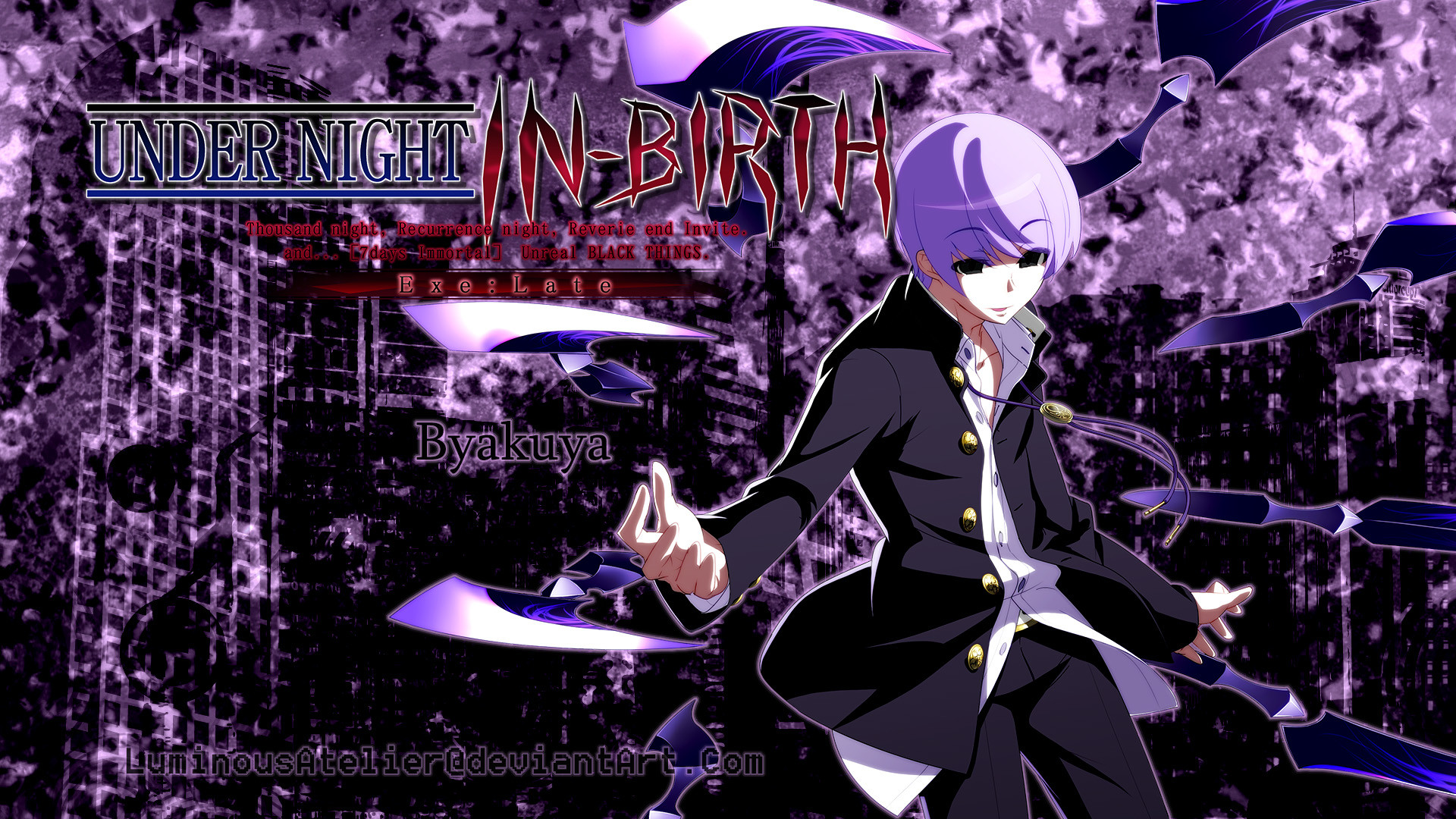 1920x1080 ... Custom Wallpaper - UNIEL Byakuya Ver.0 by LuminousAtelier