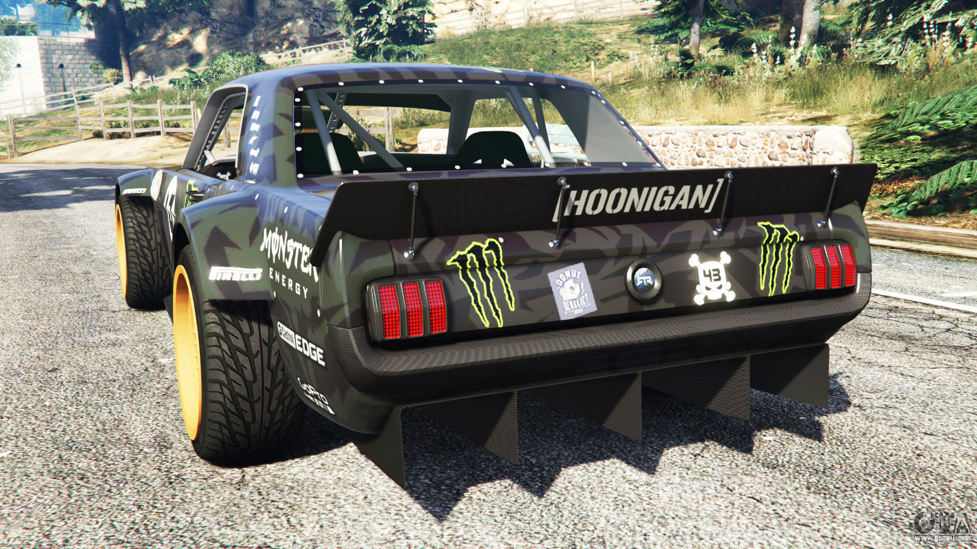 1920x1080 GTA 5 Ford Mustang 1965 Hoonicorn [add-on] rear left side view