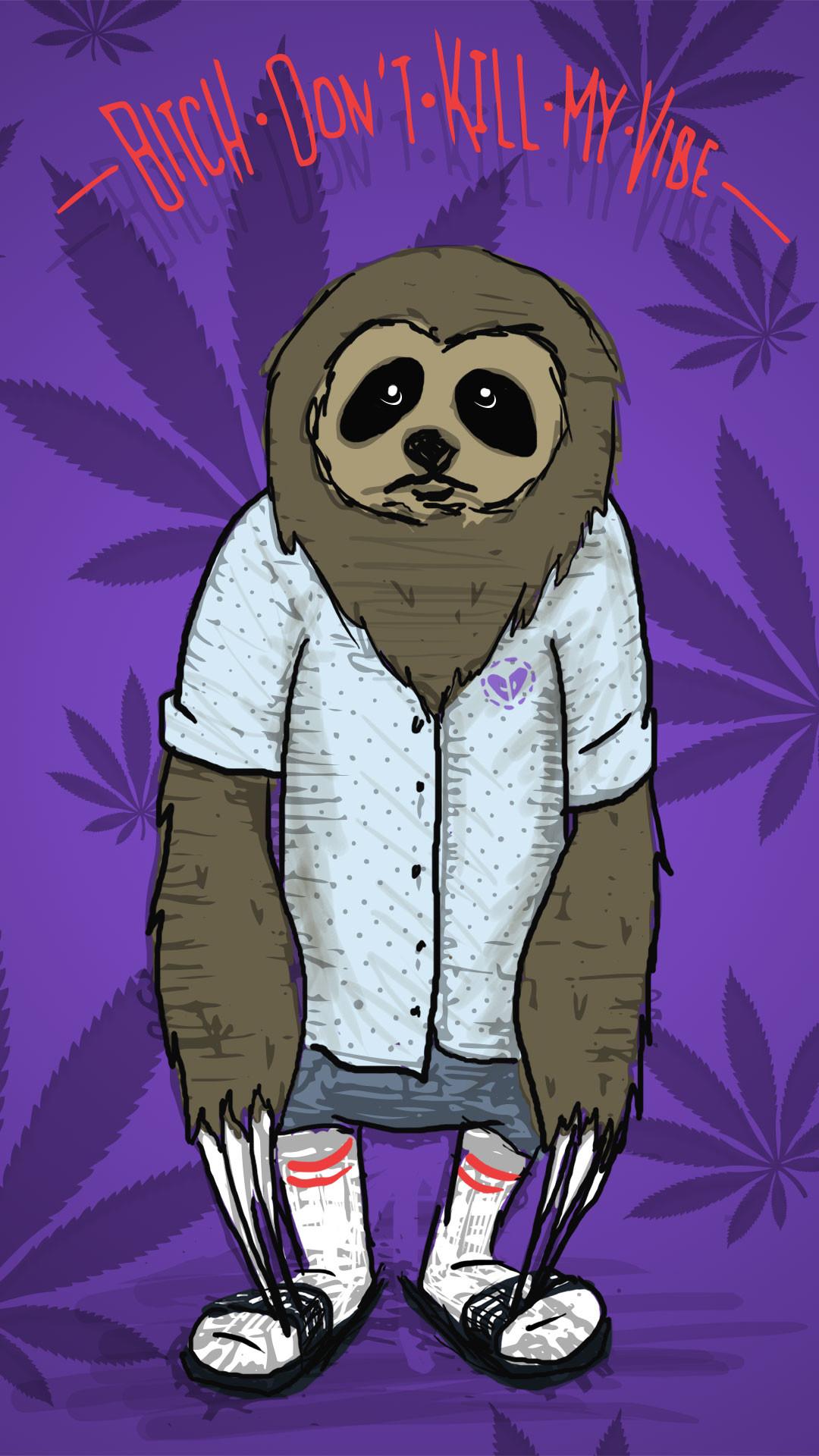 1080x1920 Stoner Sloth Mobile Wallpaper