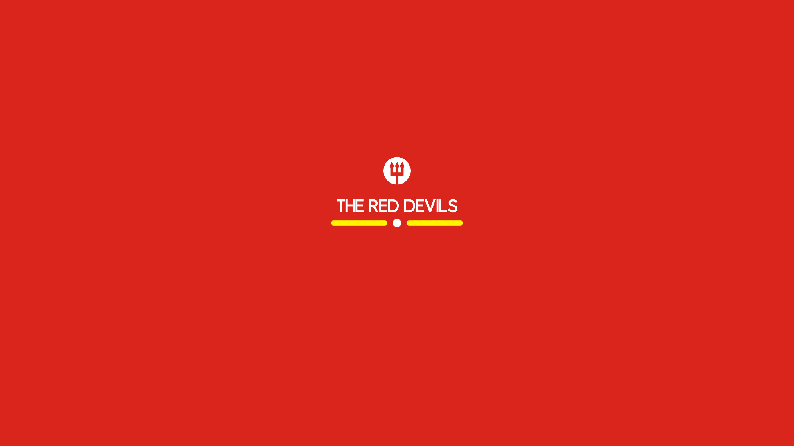 "2732x1536 The Red Devils : simple ""Manchester United"" wallpaper by Hamzah Zein"