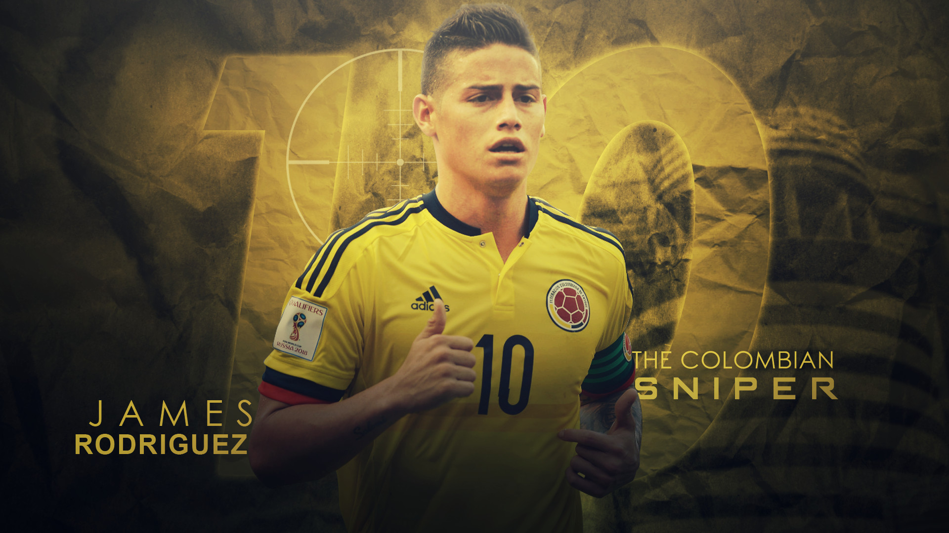 1920x1080 ArselGFX 2 1 James Rodriguez 2016/17 Colombia // Wallpaper by ArselGFX