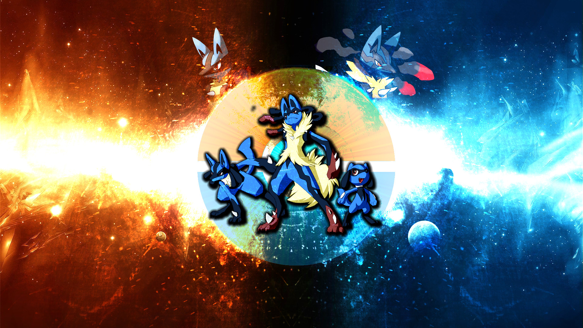 1920x1080 Pokemon Lucario Backgrounds.